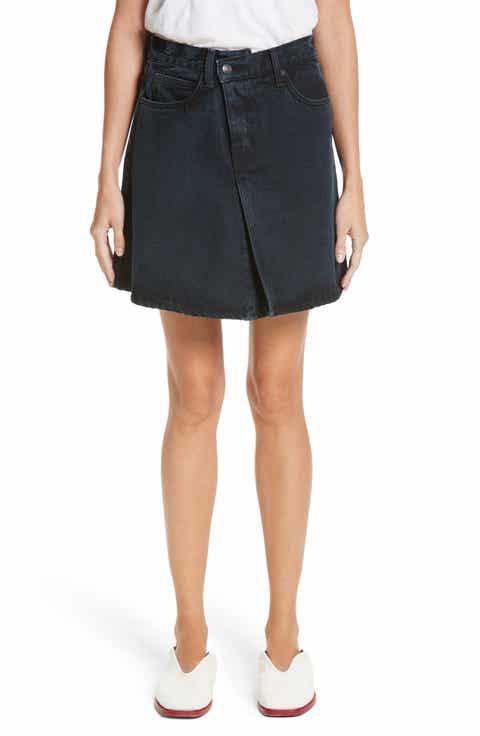 Proenza Schouler PSWL Folded Denim Skirt Online Cheap