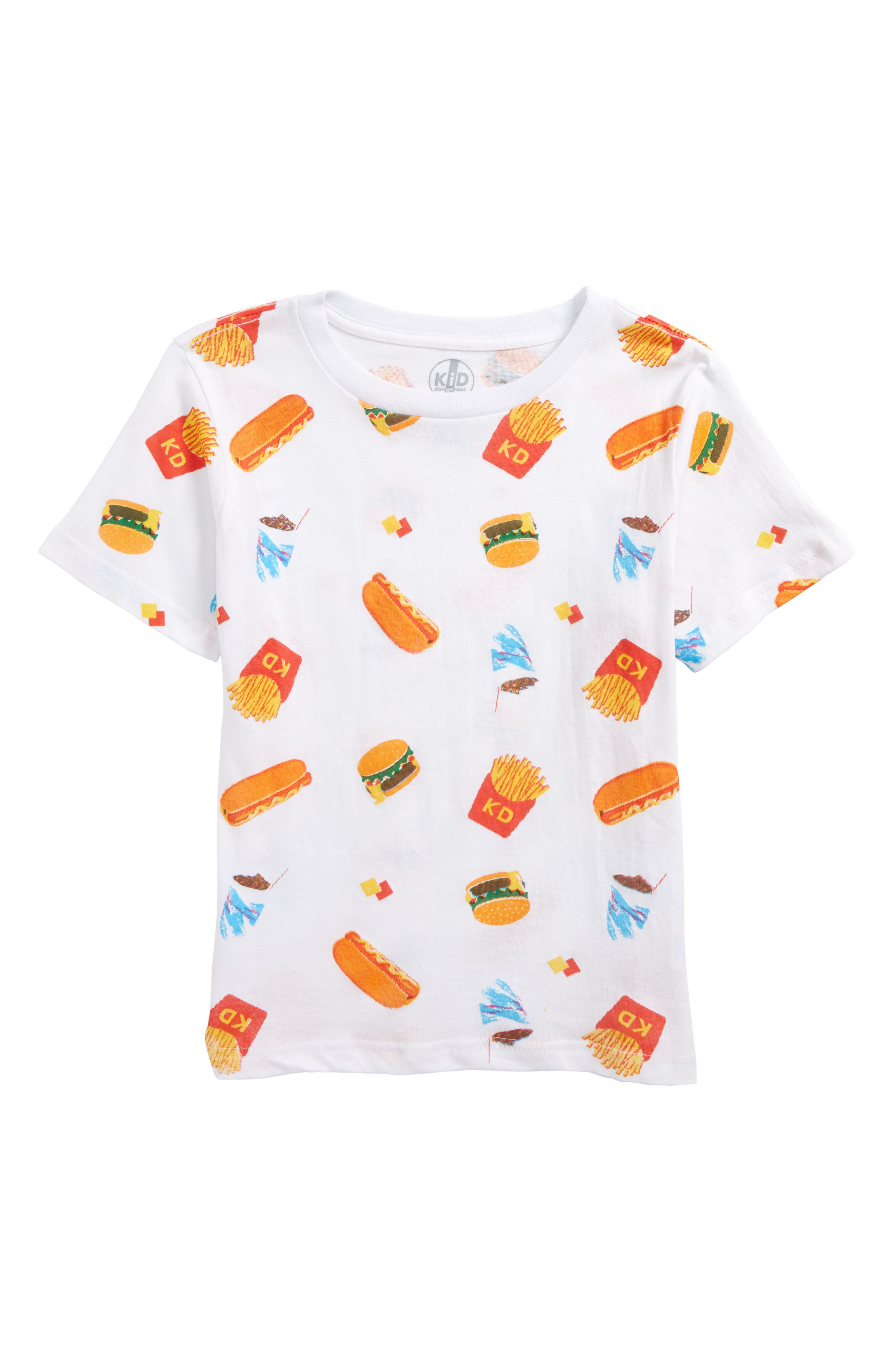 Fast Food T-Shirt,                         Main,                         color, White