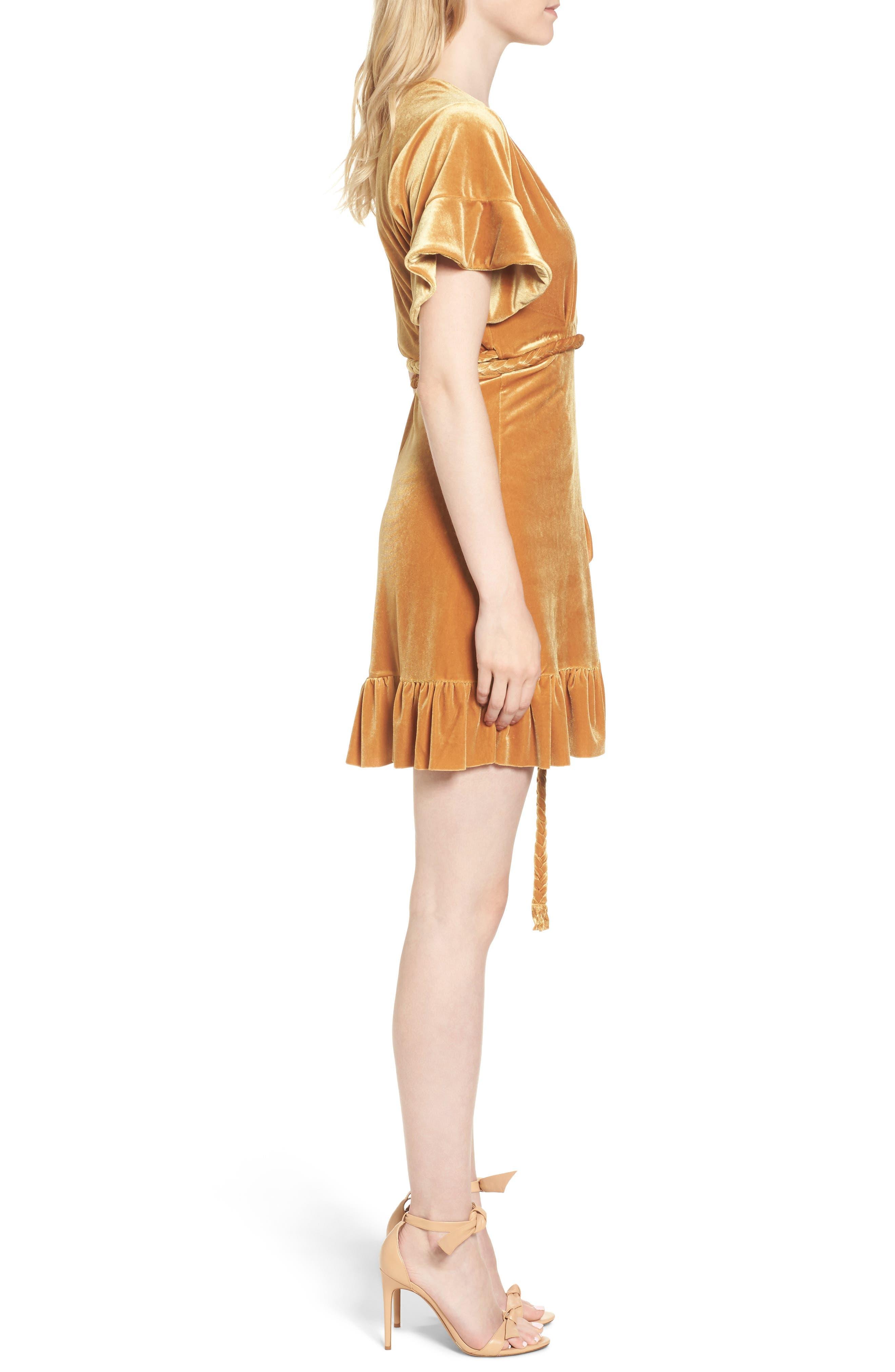 Alternate Image 3  - MISA Los Angeles Desma Velvet Wrap Minidress