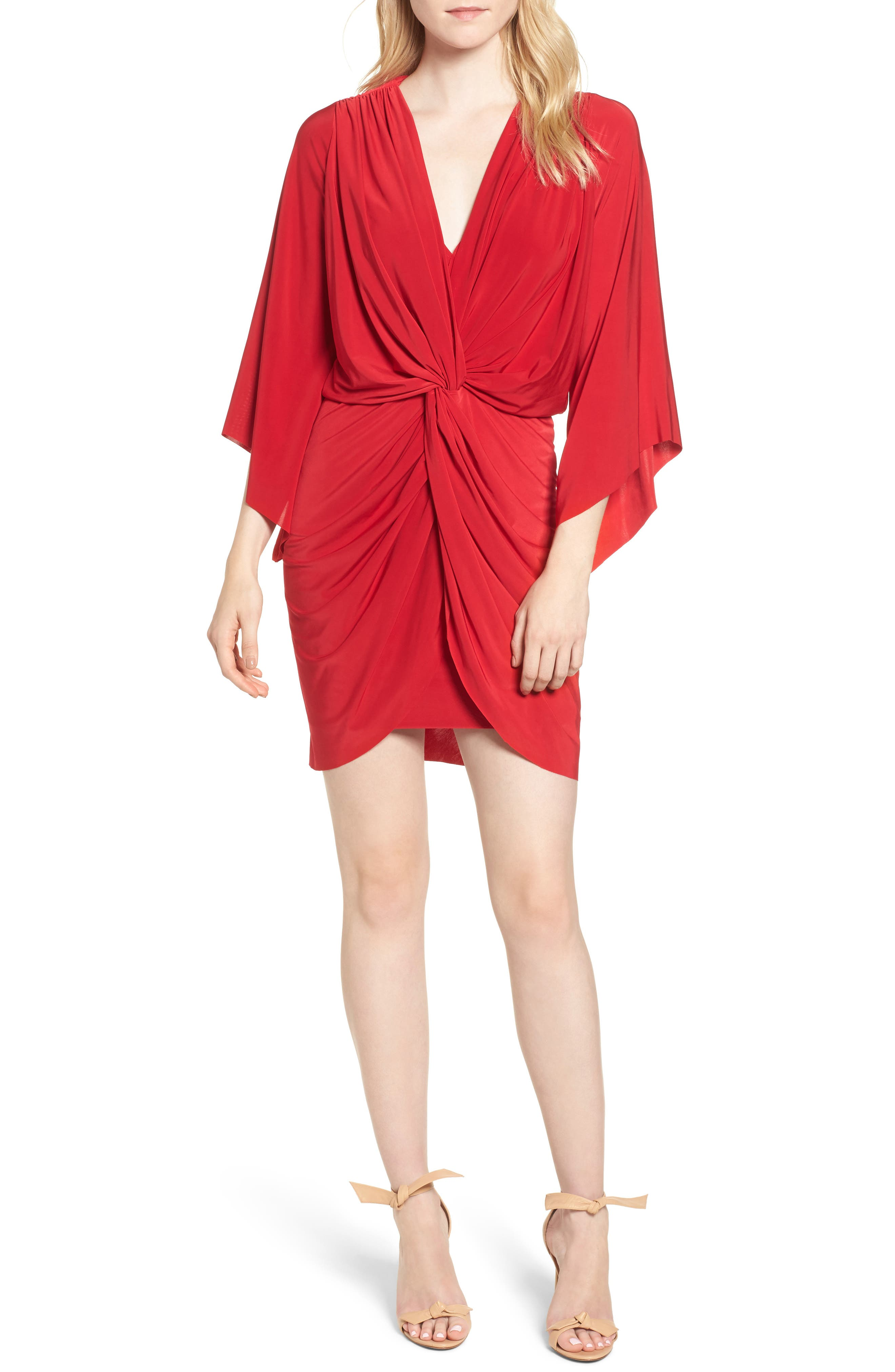 Alternate Image 1 Selected - MISA Los Angeles Teget Knot Front Dress