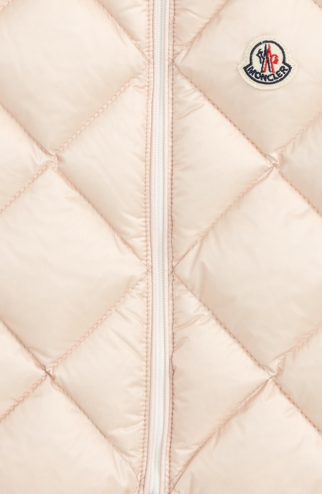 Alternate Image 2  - Moncler Ysaline Down & Fleece Lined Vest (Baby Girls & Toddler Girls)