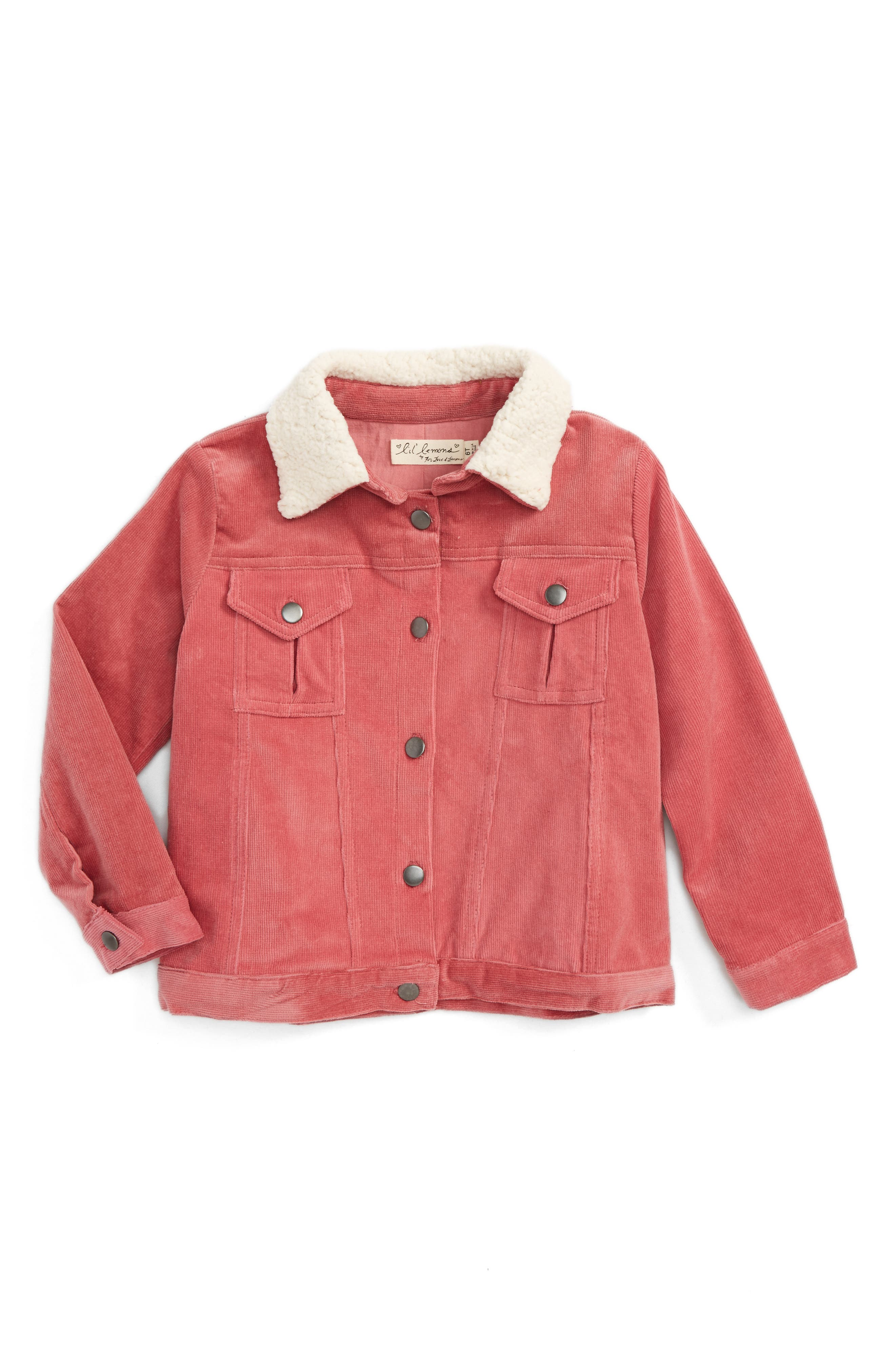 Corduroy Jacket,                         Main,                         color, Rose Pink