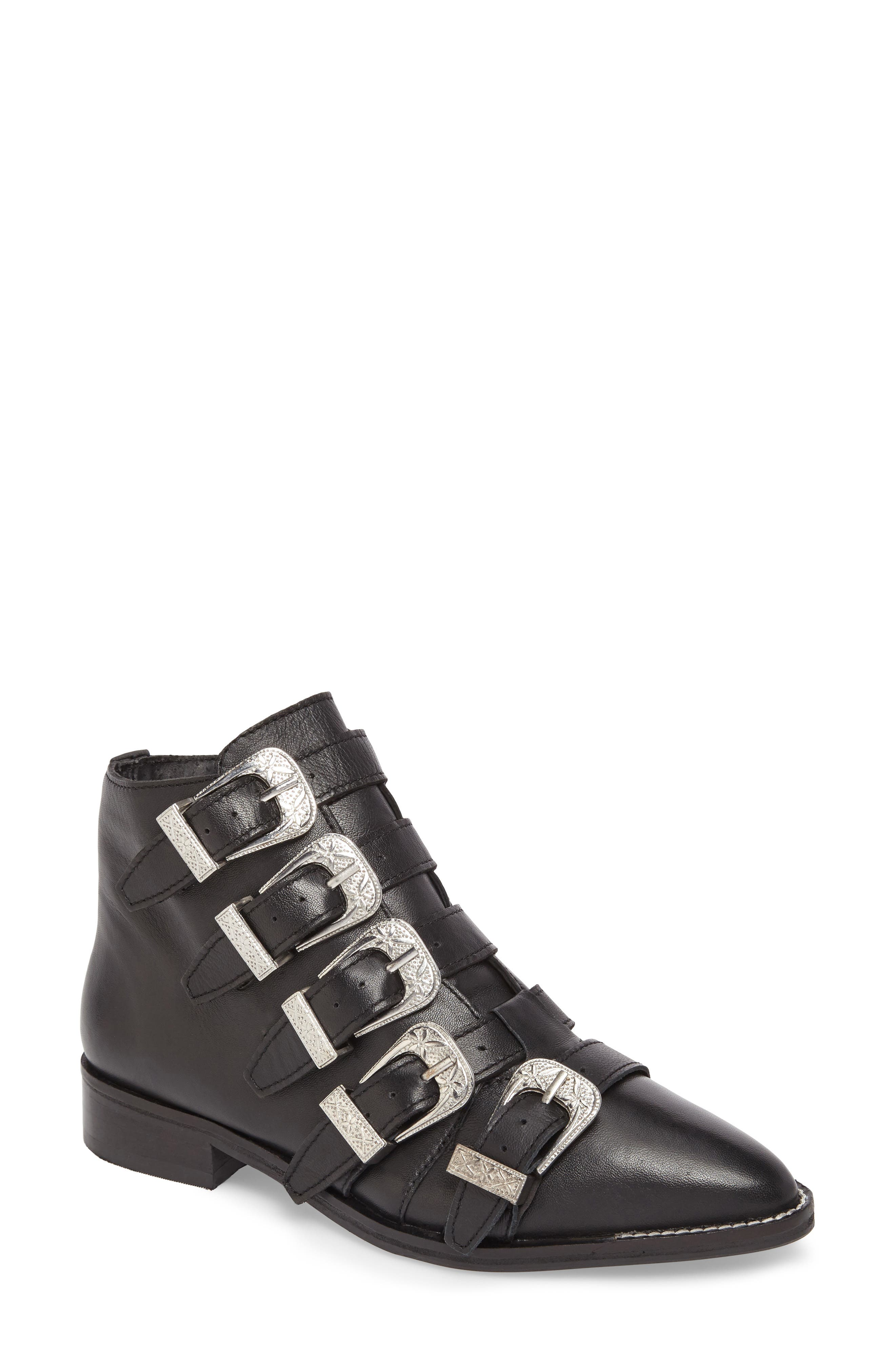 Topshop Andi Multi Buckle Boot (Women)