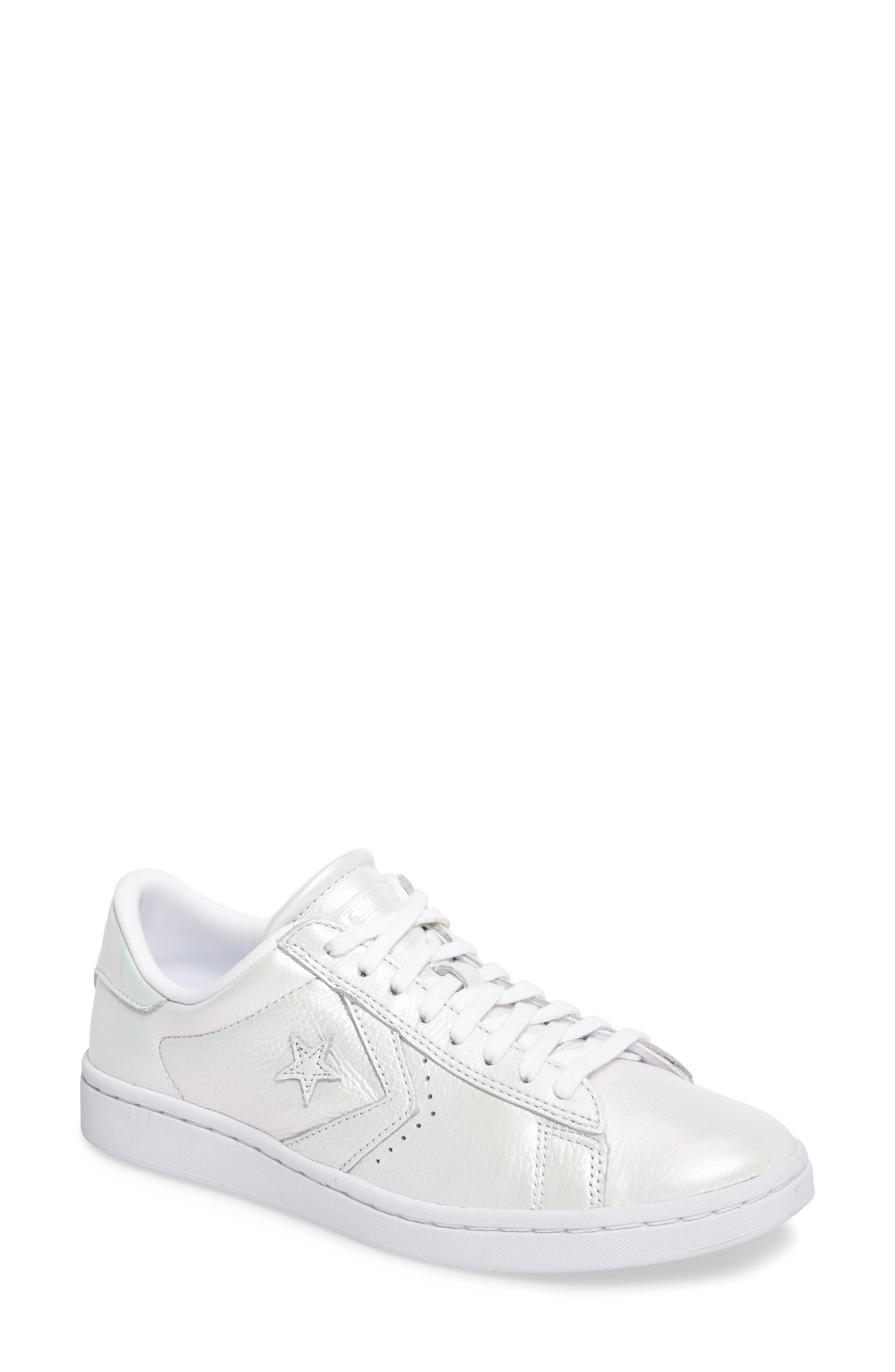 Pro Leather LP Sneaker,                             Main thumbnail 1, color,                             White Leather