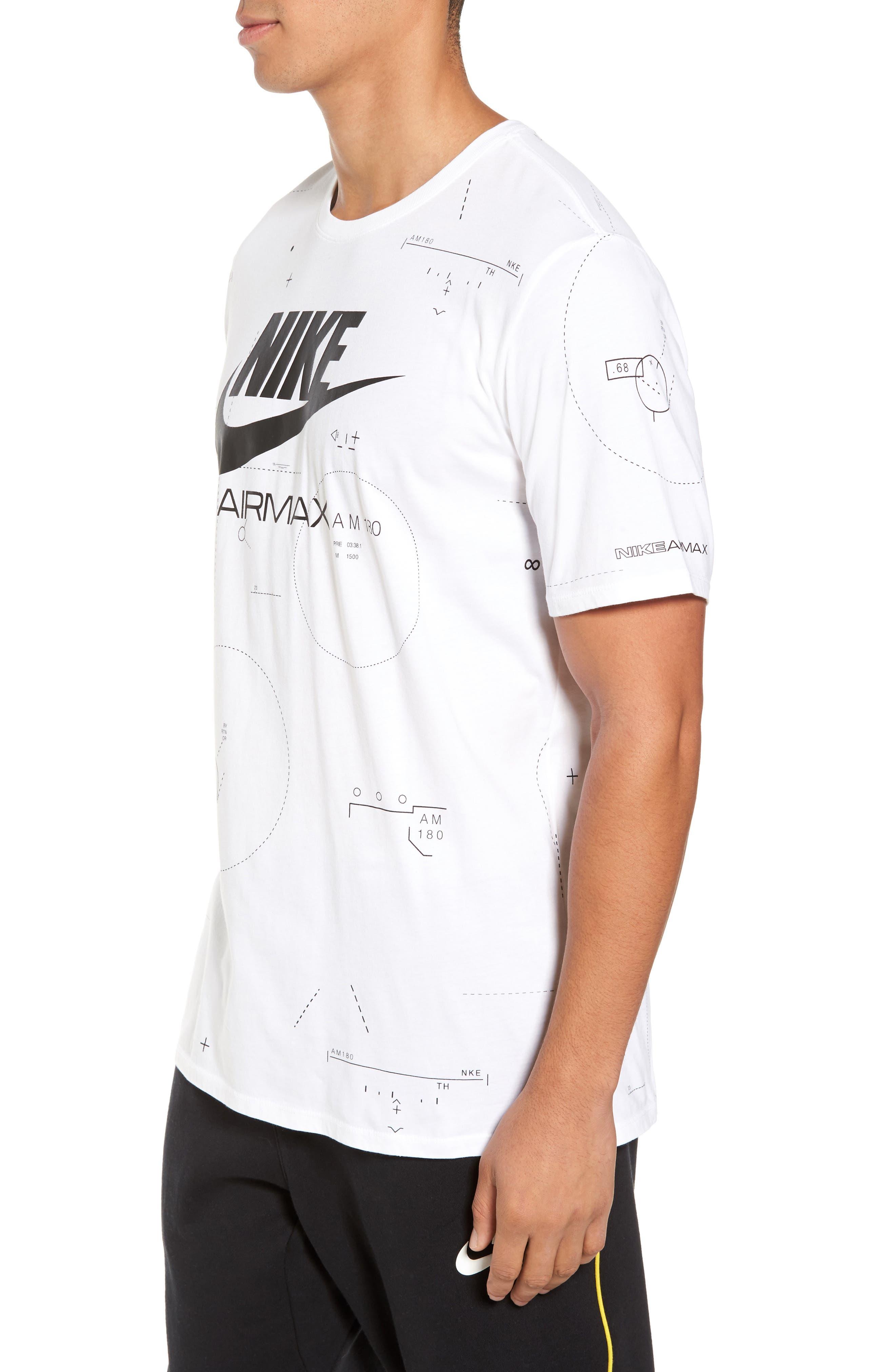 NSW Air Max 2 T-Shirt,                             Alternate thumbnail 4, color,                             White/ Black