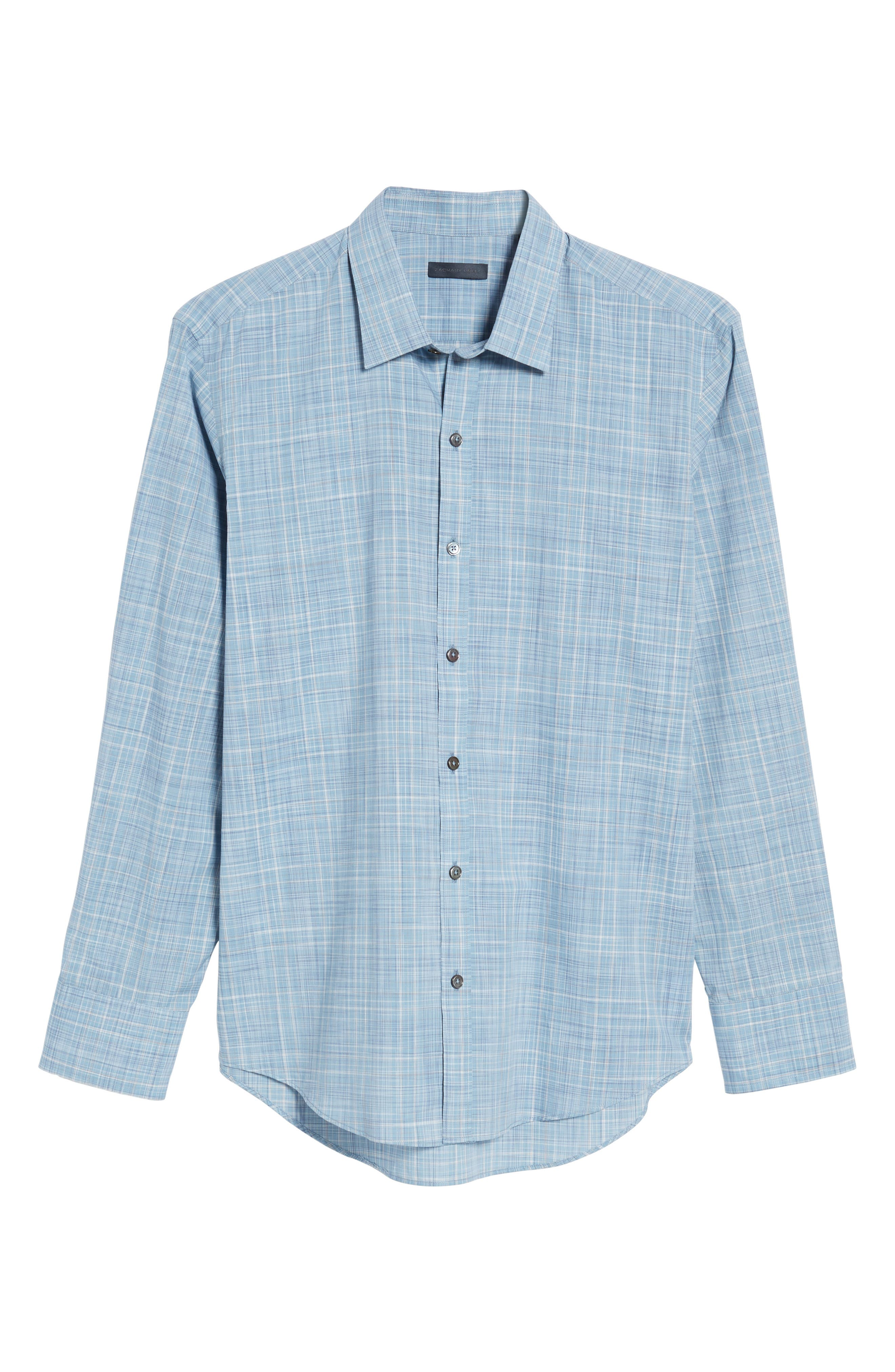 Alternate Image 6  - Zachary Prell Clark Slim Fit Plaid Sport Shirt