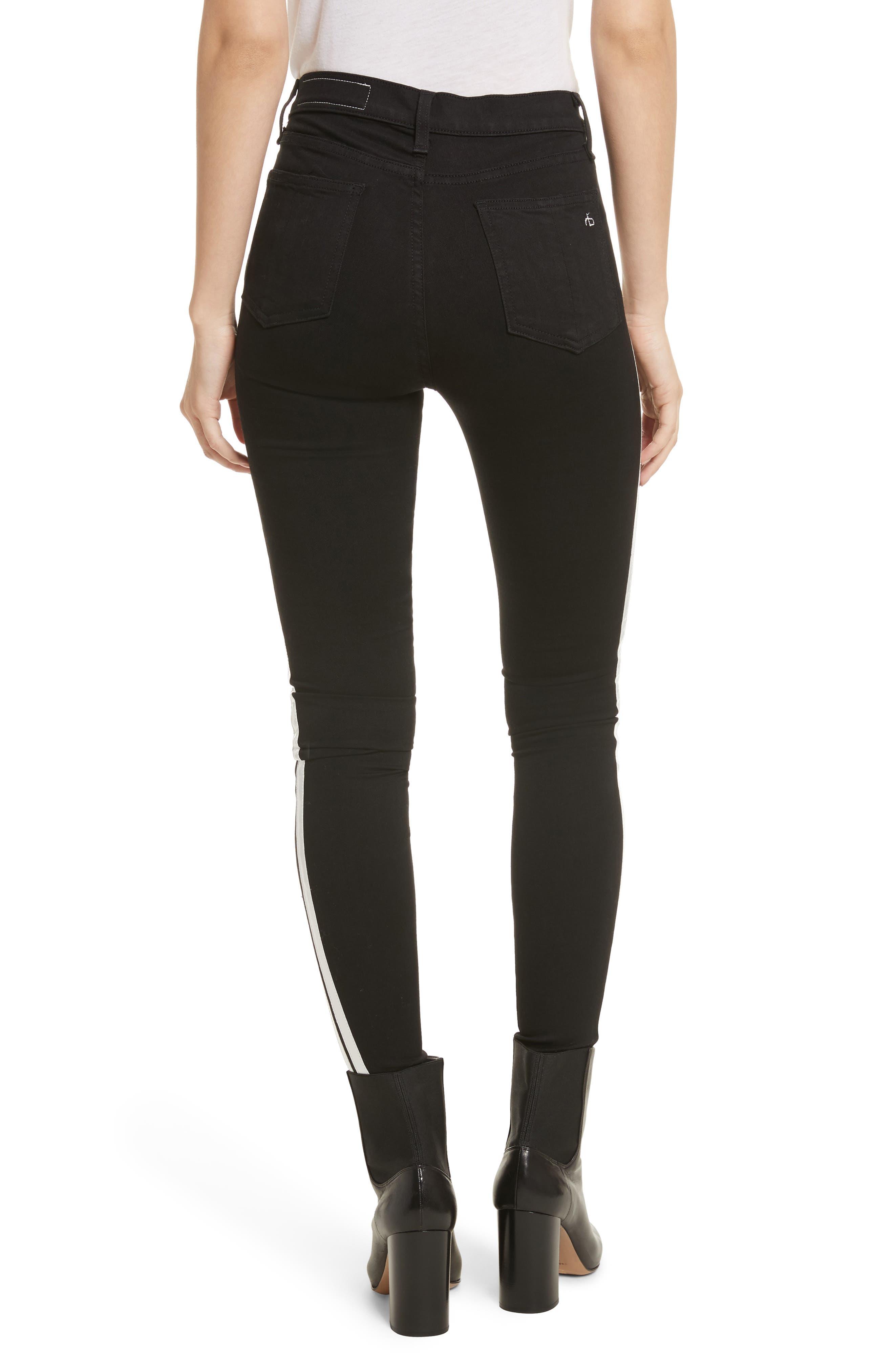 Mito High Waist Skinny Jeans,                             Alternate thumbnail 2, color,                             Black