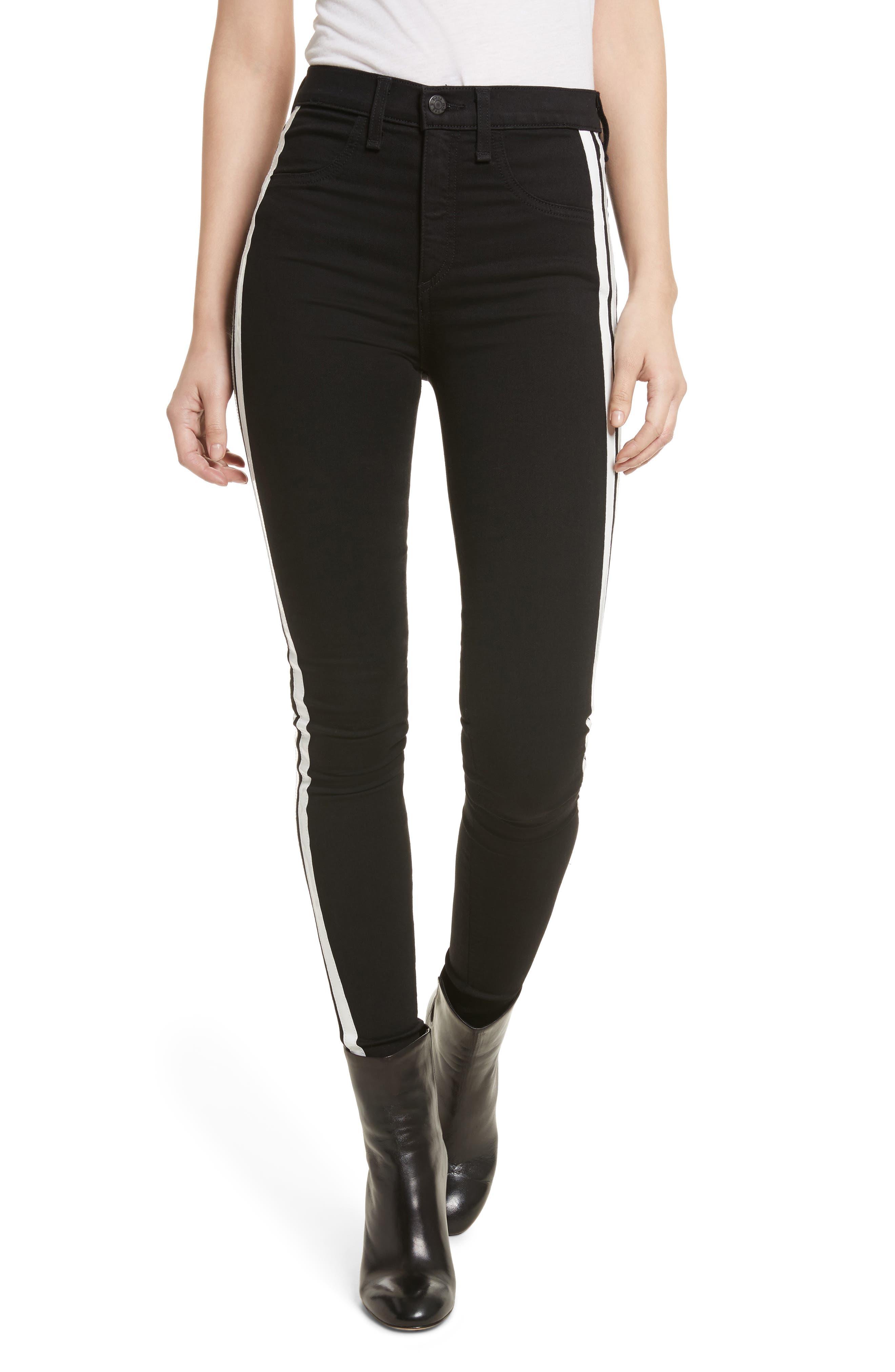 Mito High Waist Skinny Jeans,                         Main,                         color, Black