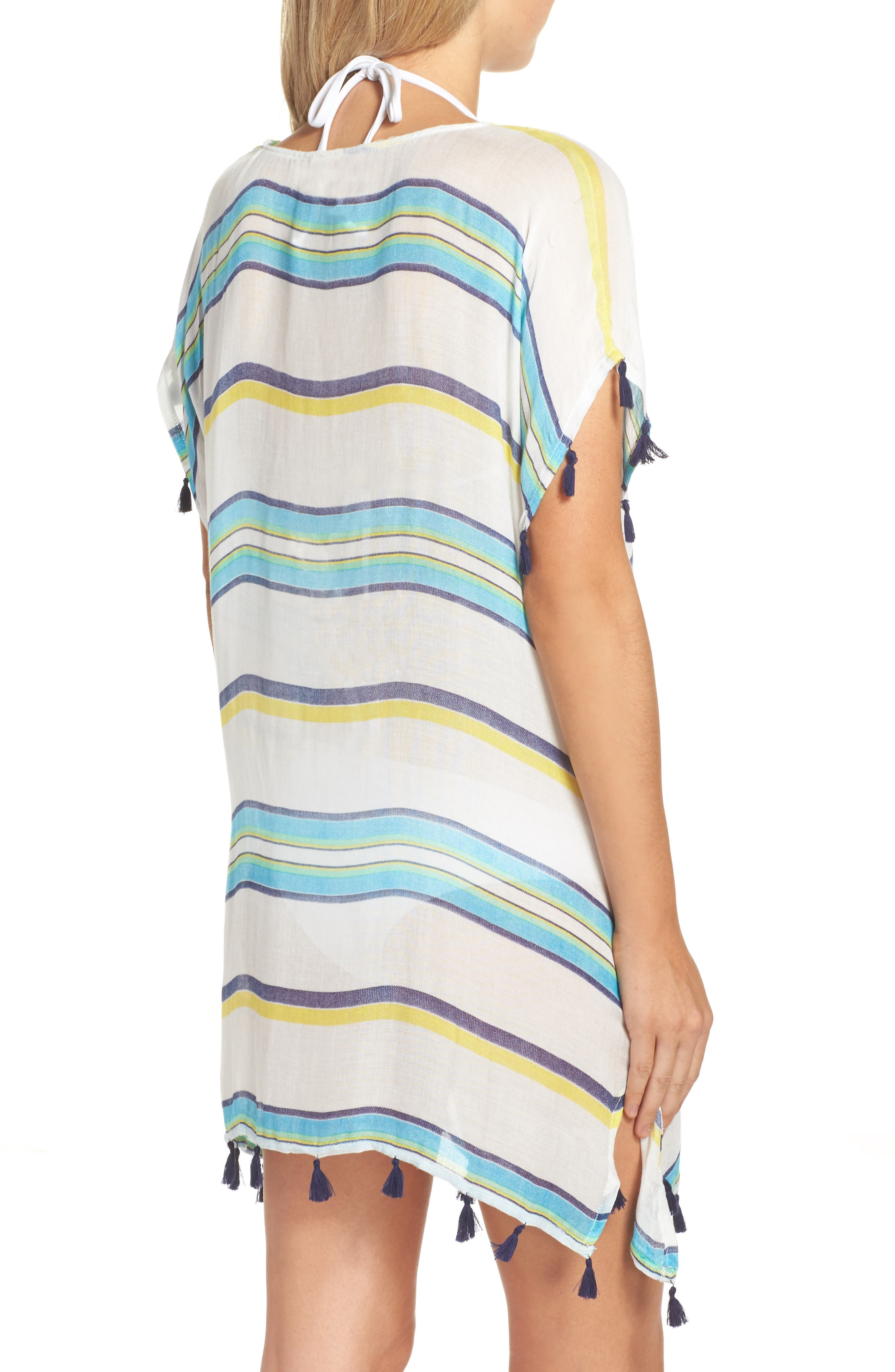 Alternate Image 2  - Surf Gypsy Stripe Tassel Cover-Up Poncho