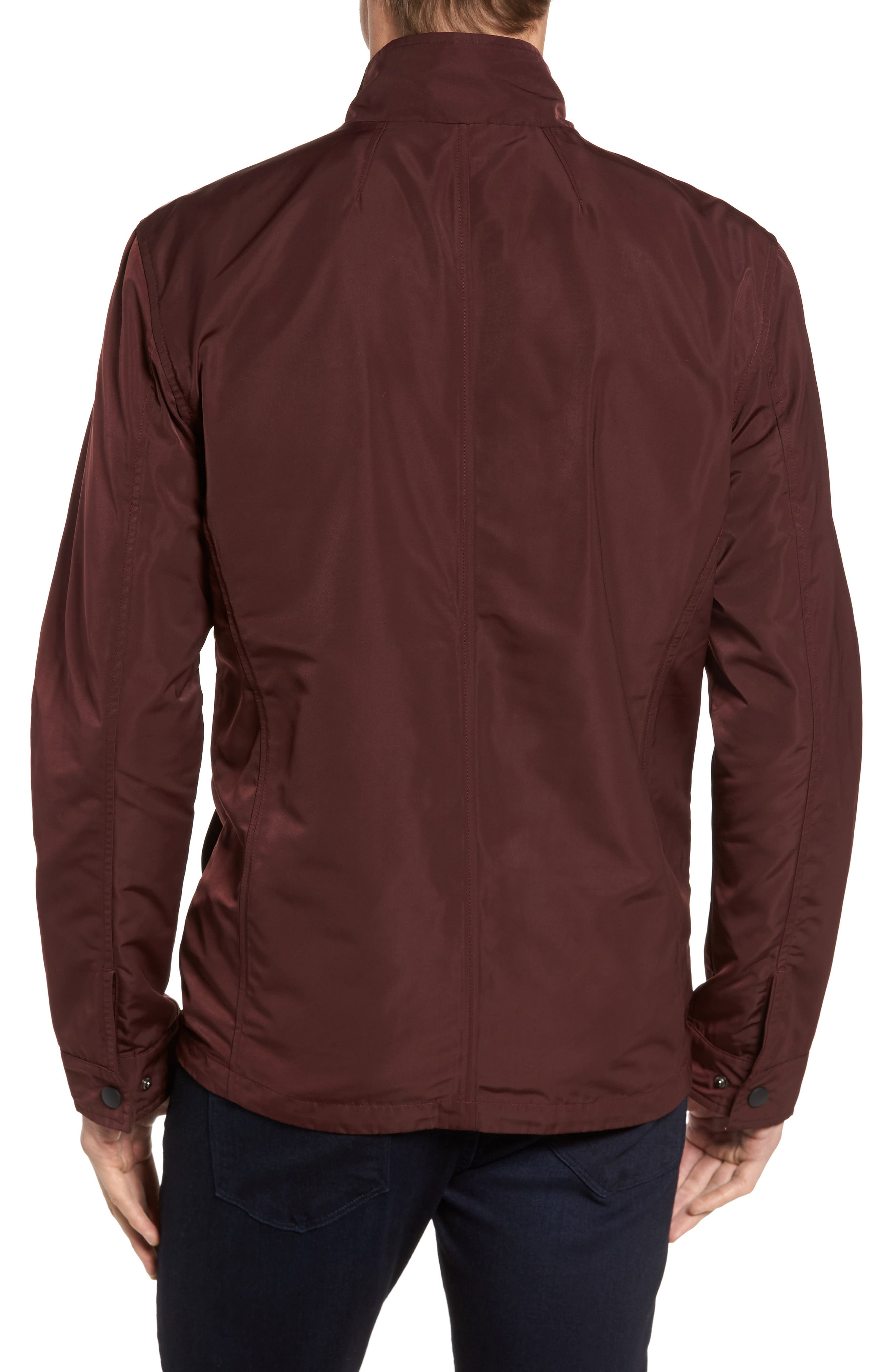 Dougie Waterproof Jacket,                             Alternate thumbnail 2, color,                             Mulberry