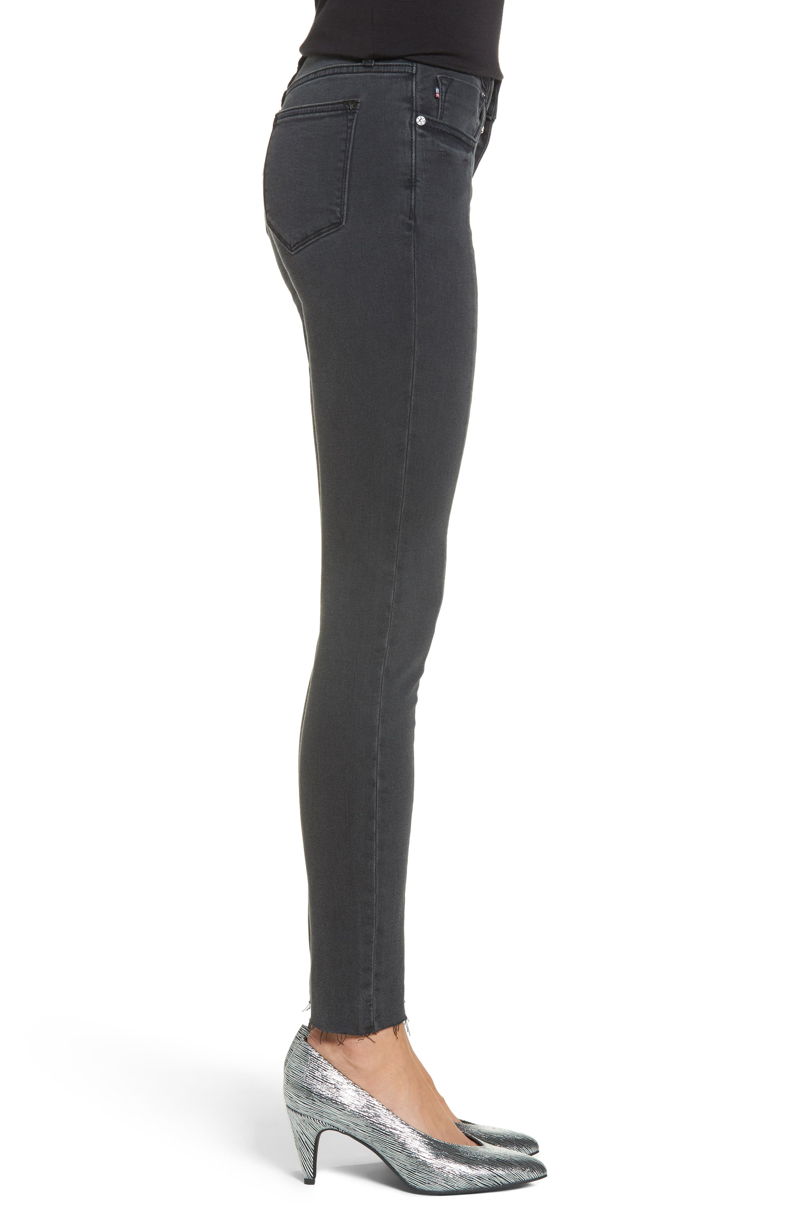 Jagger Front Seam Skinny Jeans,                             Alternate thumbnail 3, color,                             Washed Black