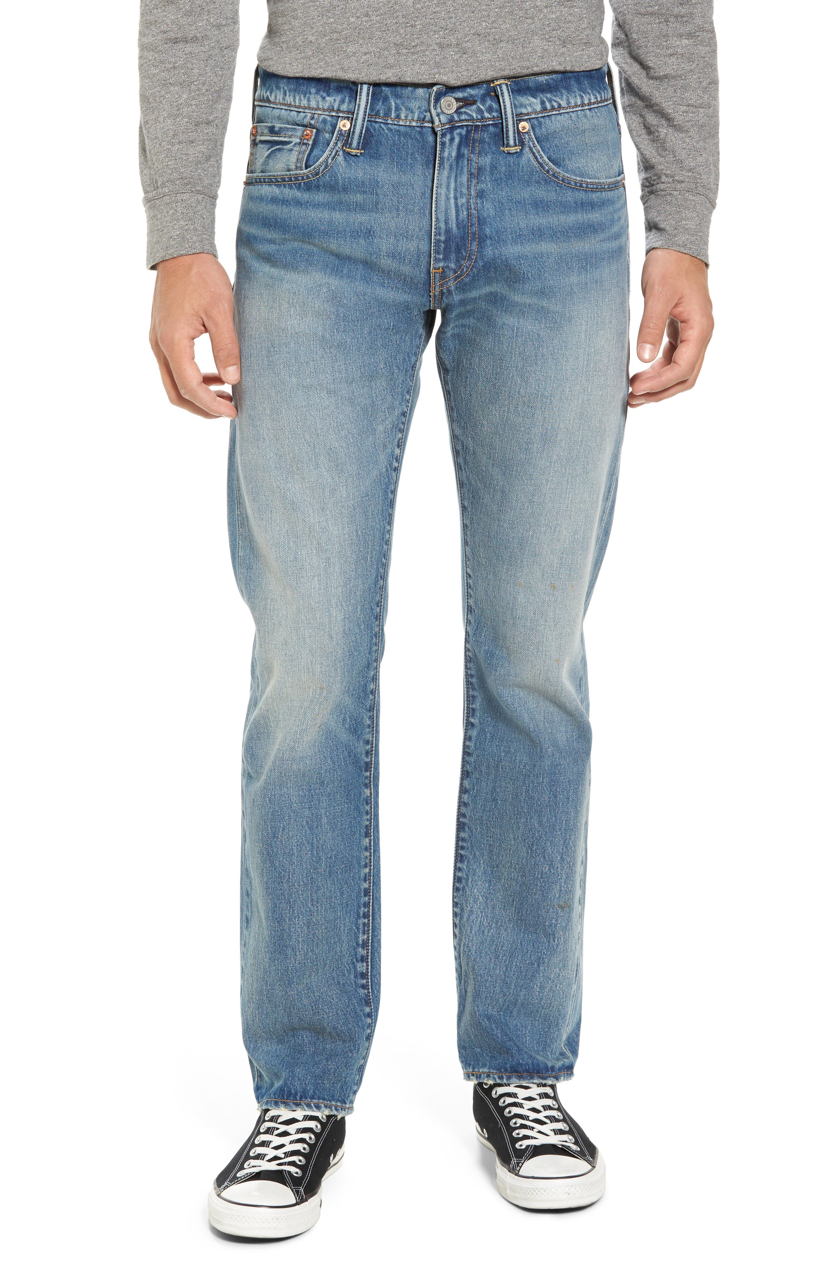 Main Image - Levi's® 511™ Slim Fit Jeans (Medium Blue Selvedge Cali)