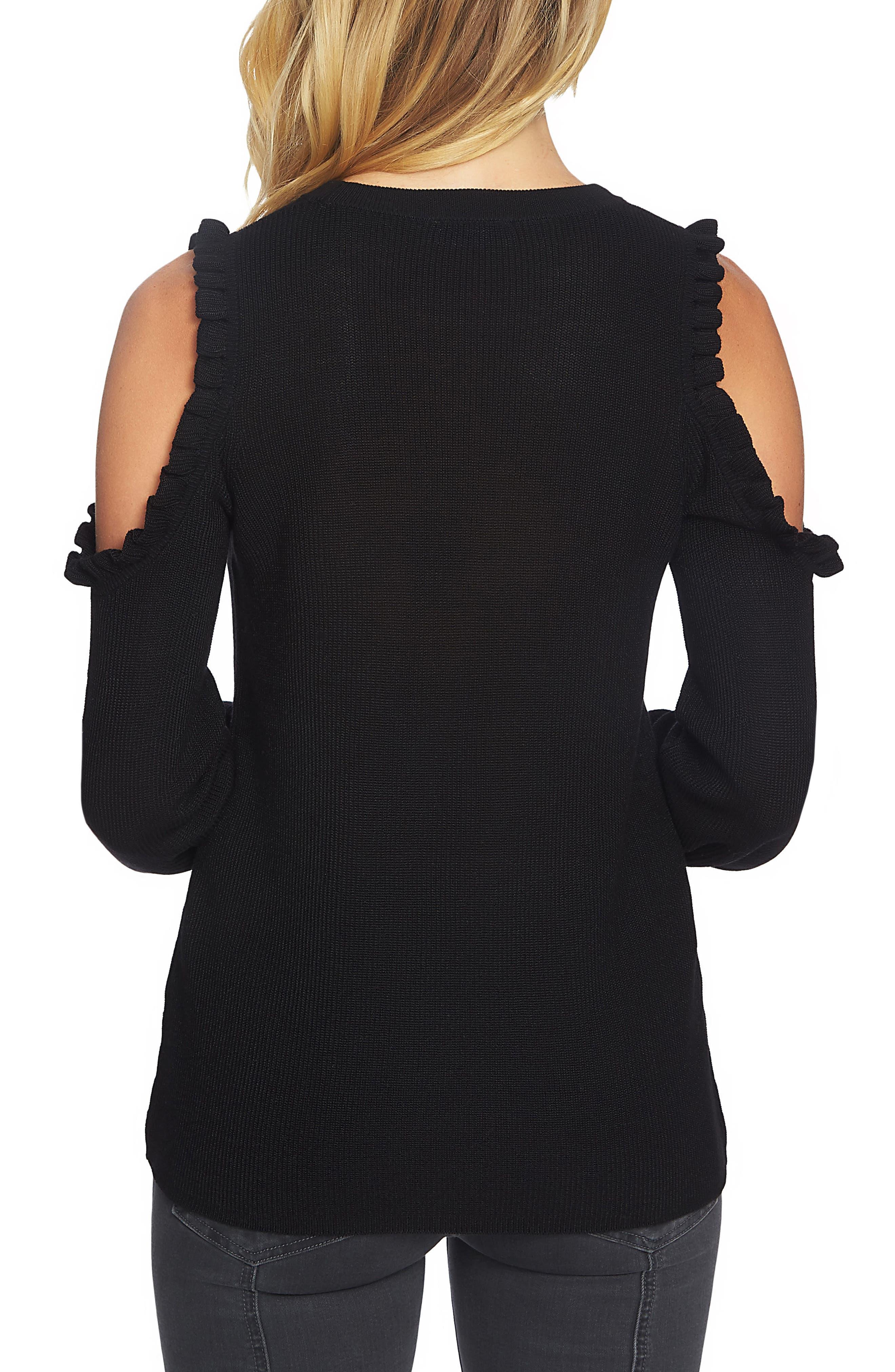 Alternate Image 2  - 1.STATE Cold Shoulder Sweater