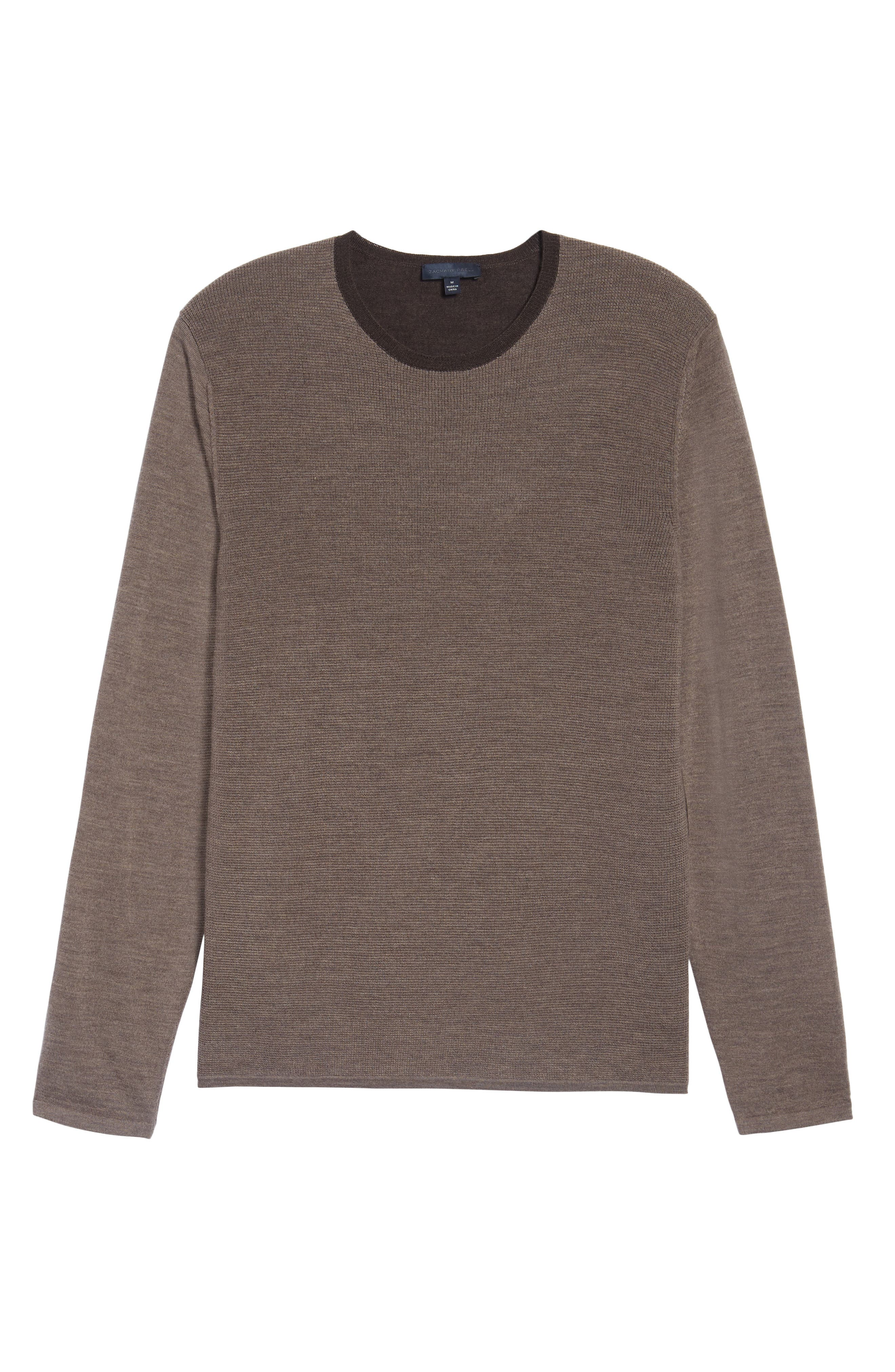 Huxley Merino Sweater,                             Alternate thumbnail 6, color,                             Light Coffee