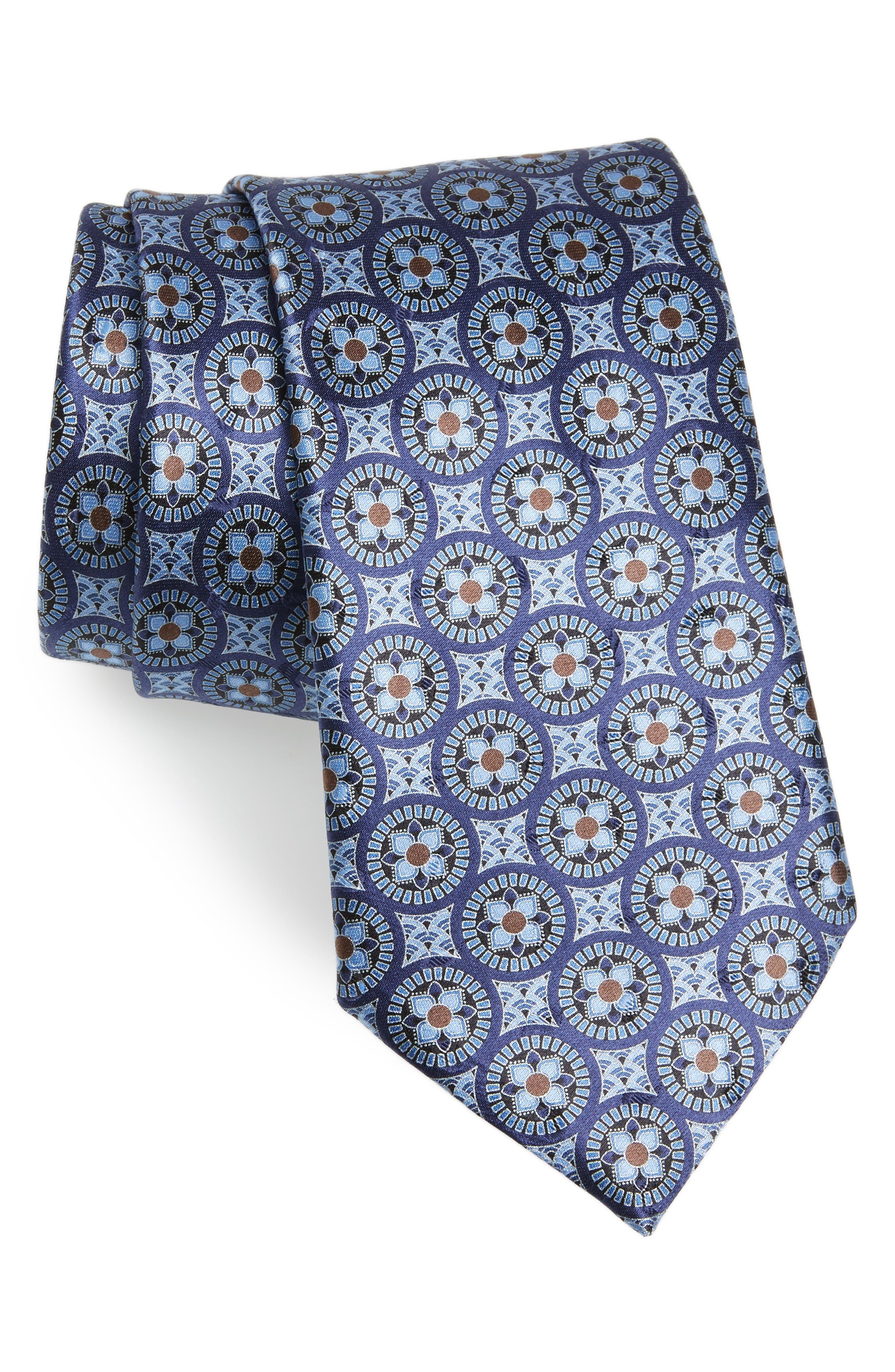 Ermenegildo Zegna Medallion Silk Tie