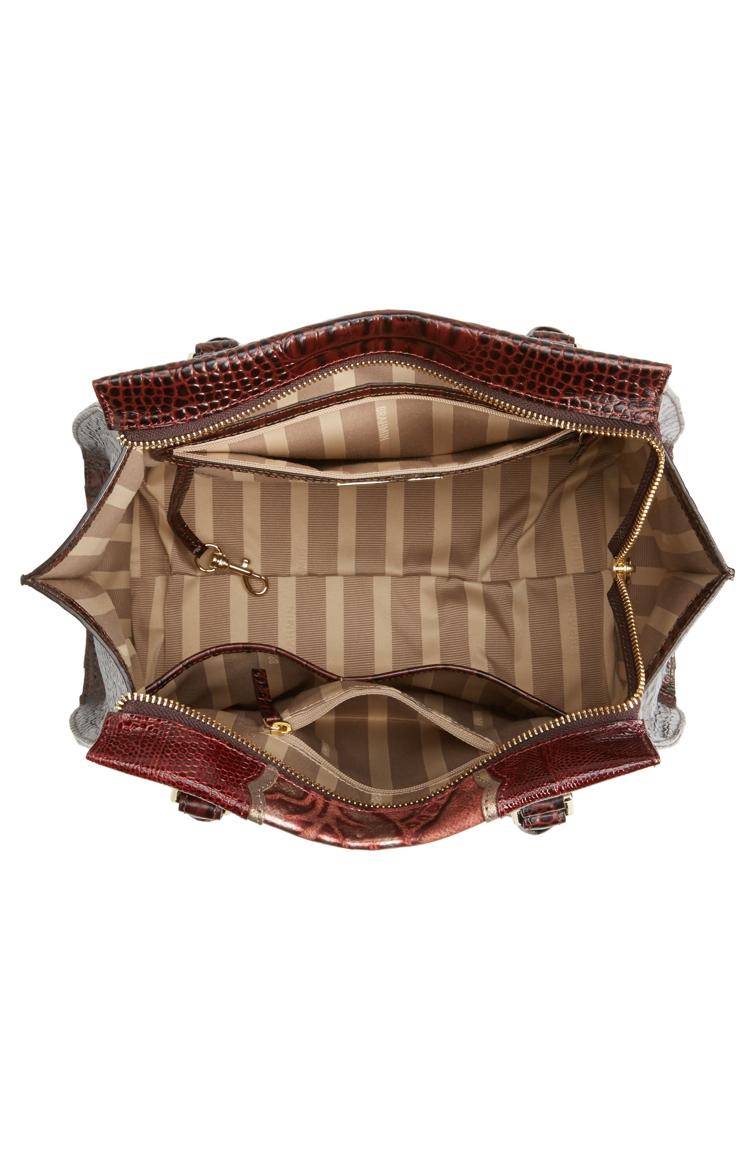 Alternate Image 4  - Brahmin Red Verona - Priscilla Leather Satchel