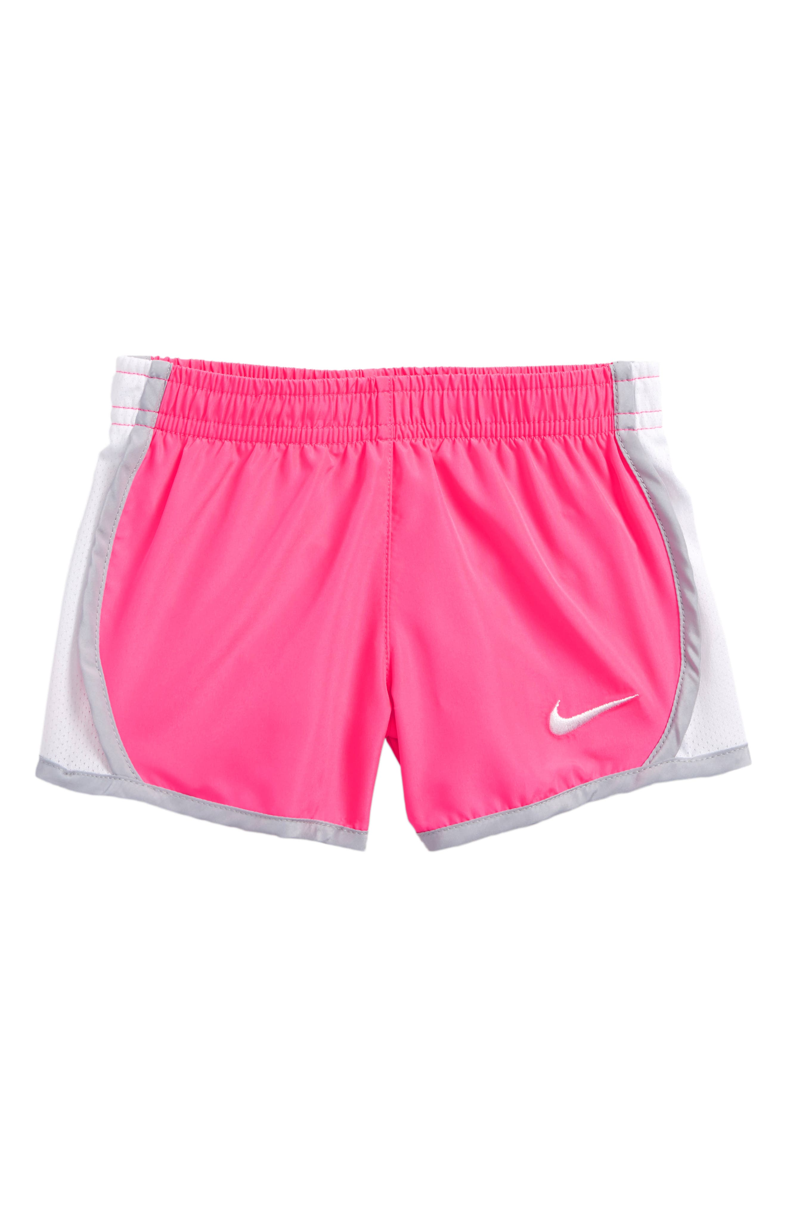 Alternate Image 1 Selected - Nike 'Tempo' Dri-FIT Shorts (Baby Girls)