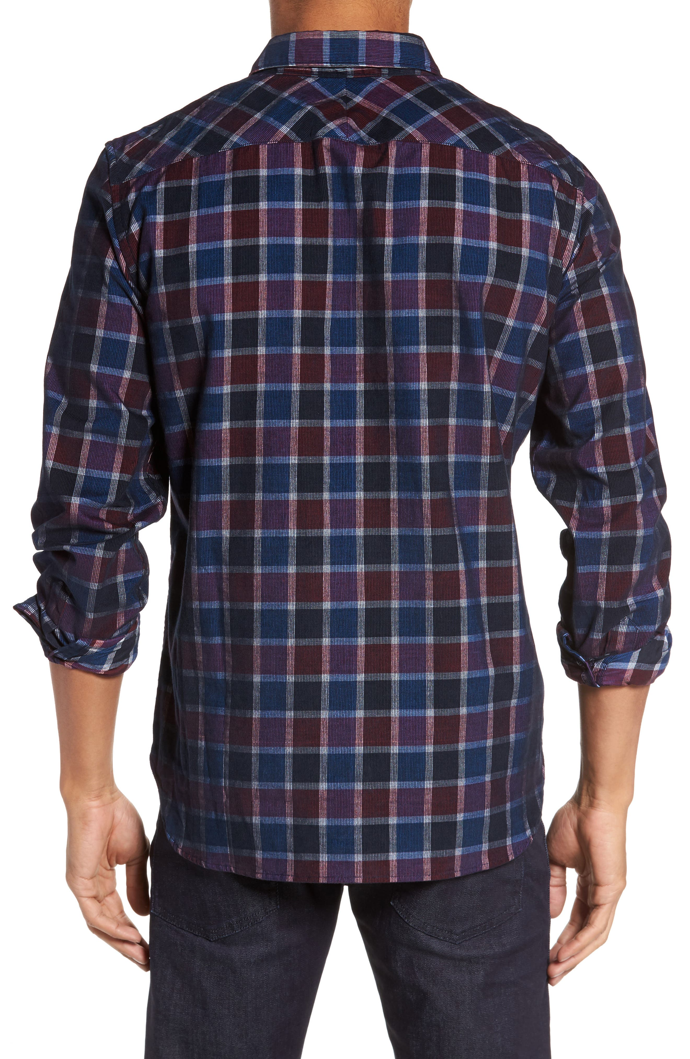 Alternate Image 2  - French Connection Plaid Corduroy Sport Shirt