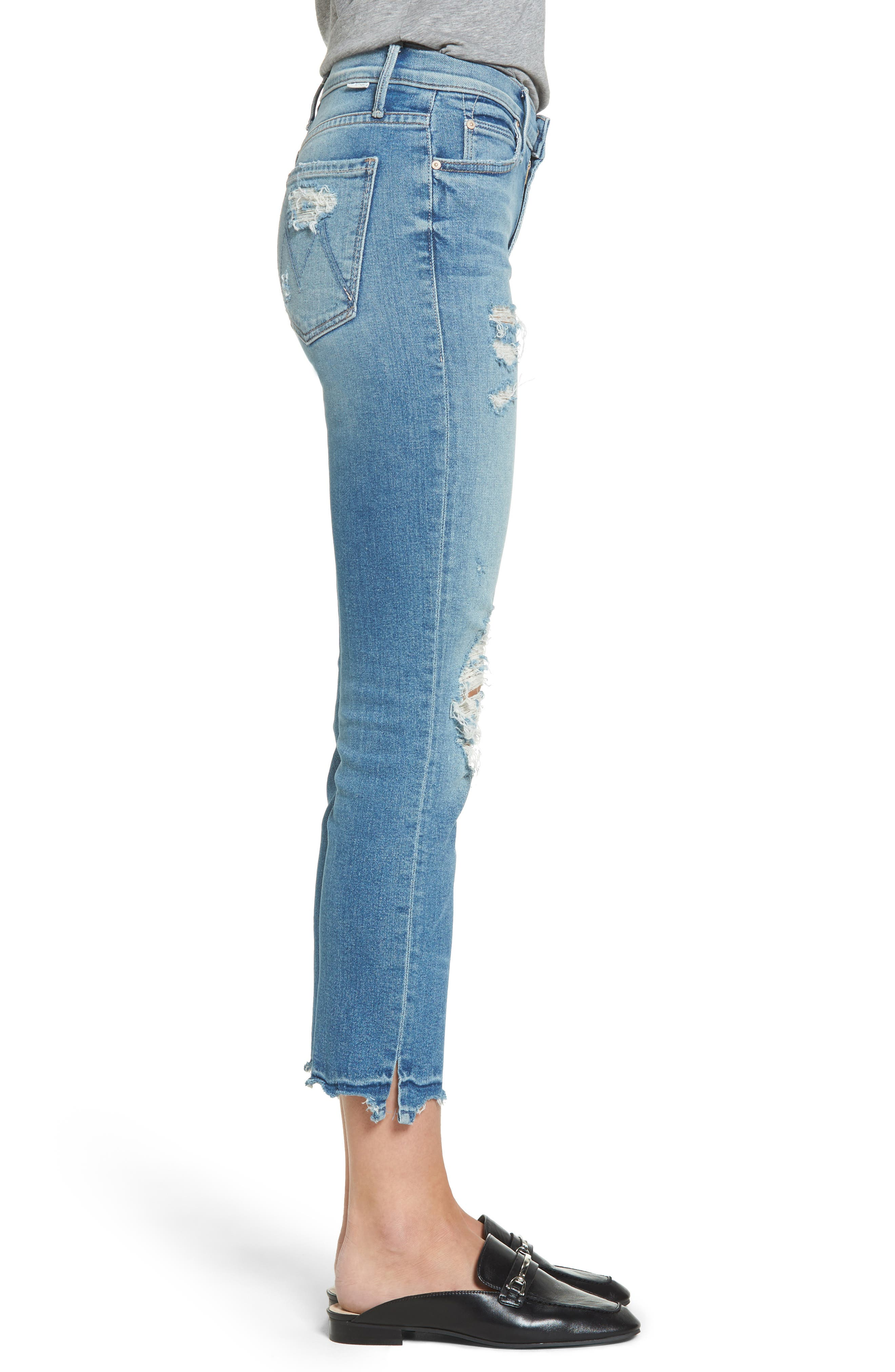 Alternate Image 4  - MOTHER The Rascal High Waist Ankle Jeans (Push The Envelope)