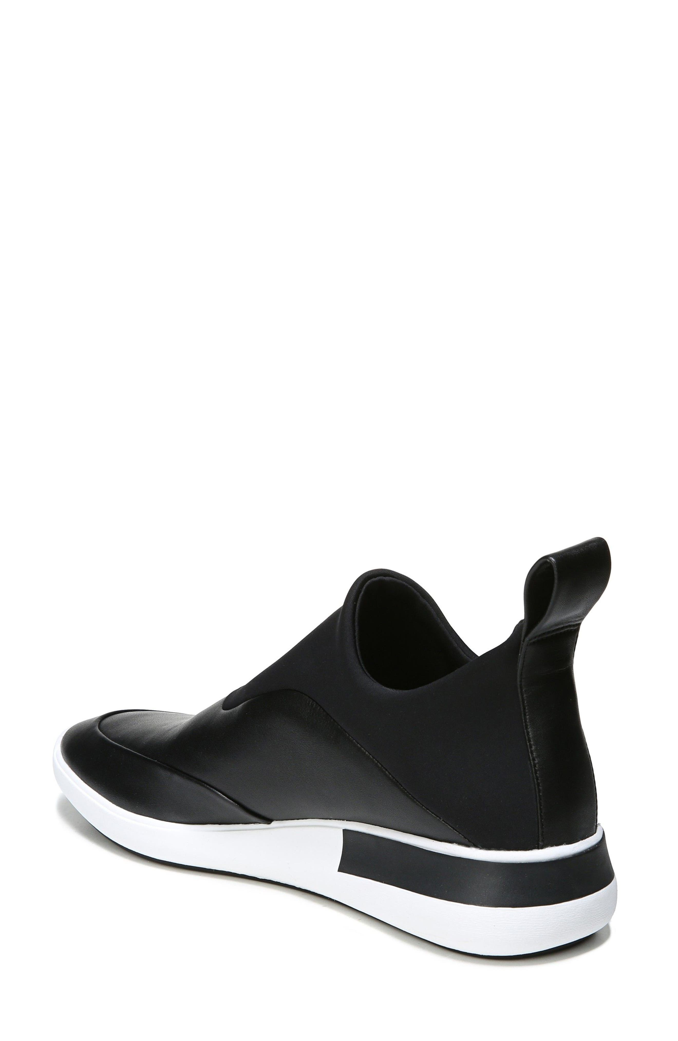 Mercer Slip-On Sneaker,                             Alternate thumbnail 2, color,                             Black Leather