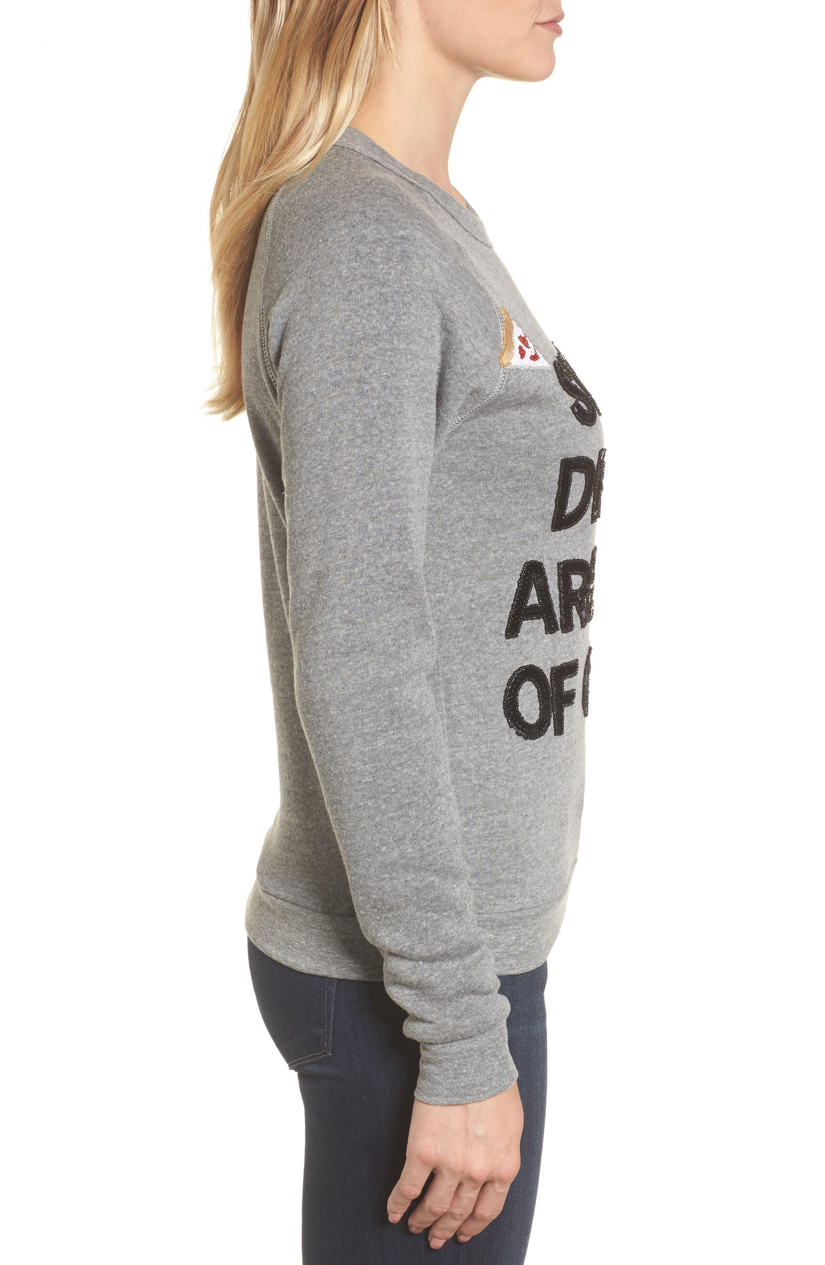 Alternate Image 3  - Bow & Drape Sweet Dreams are Made of Cheese Sweatshirt