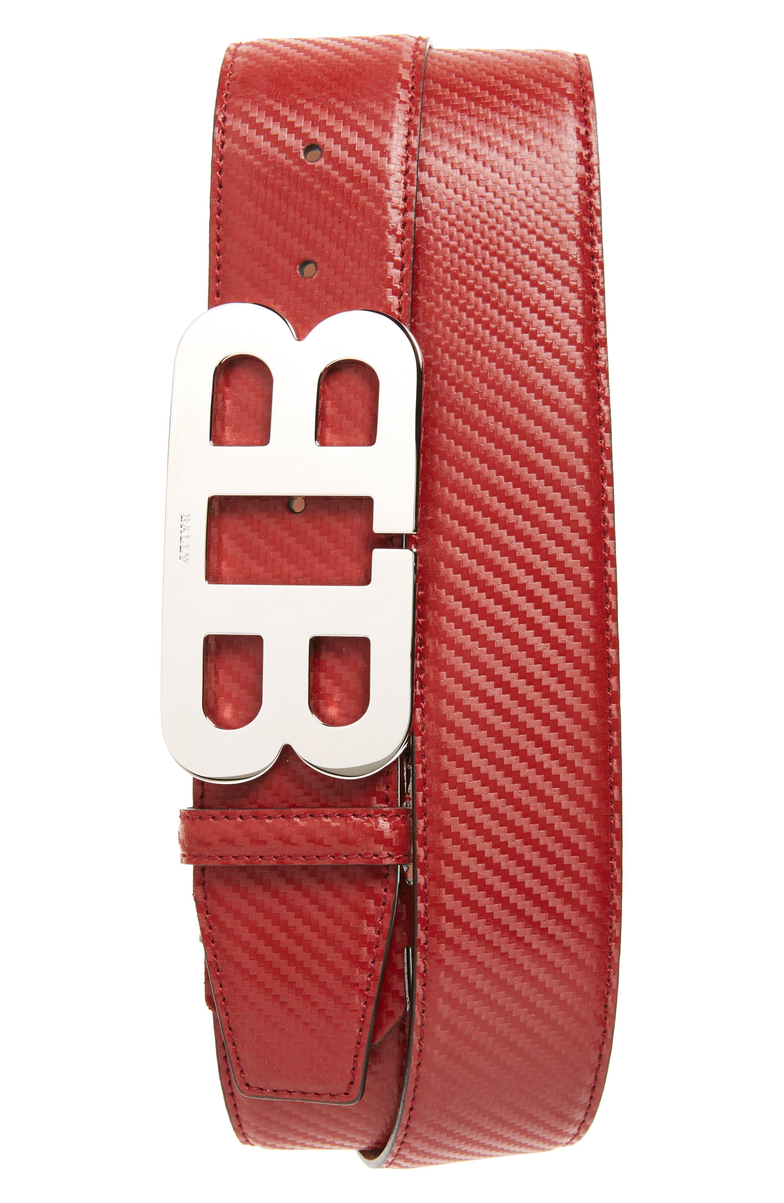 Leather Belt,                         Main,                         color, Garnet