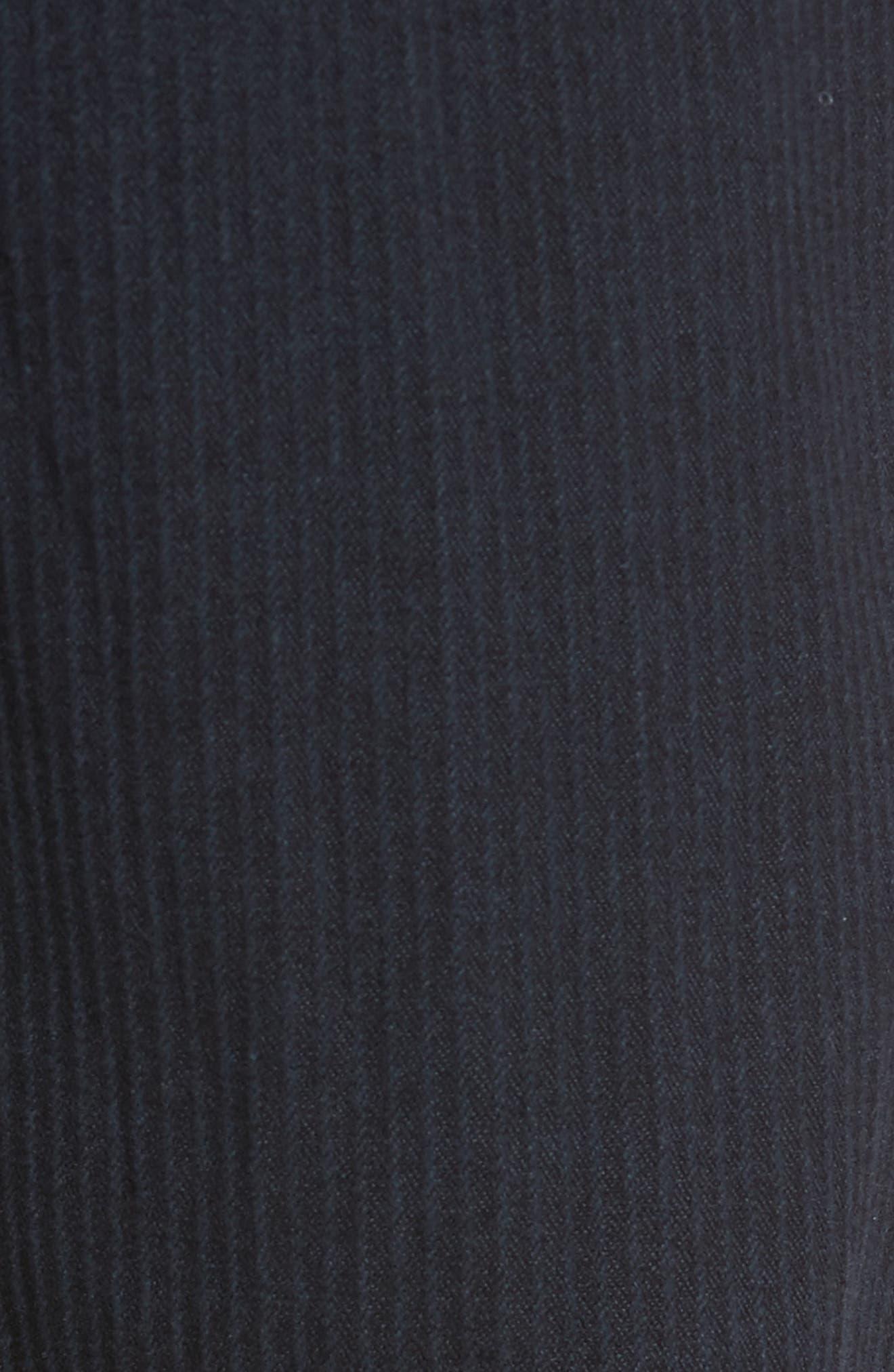 Tellis Modern Slim Stripe Five-Pocket Pants,                             Alternate thumbnail 5, color,                             Midnight Shadow