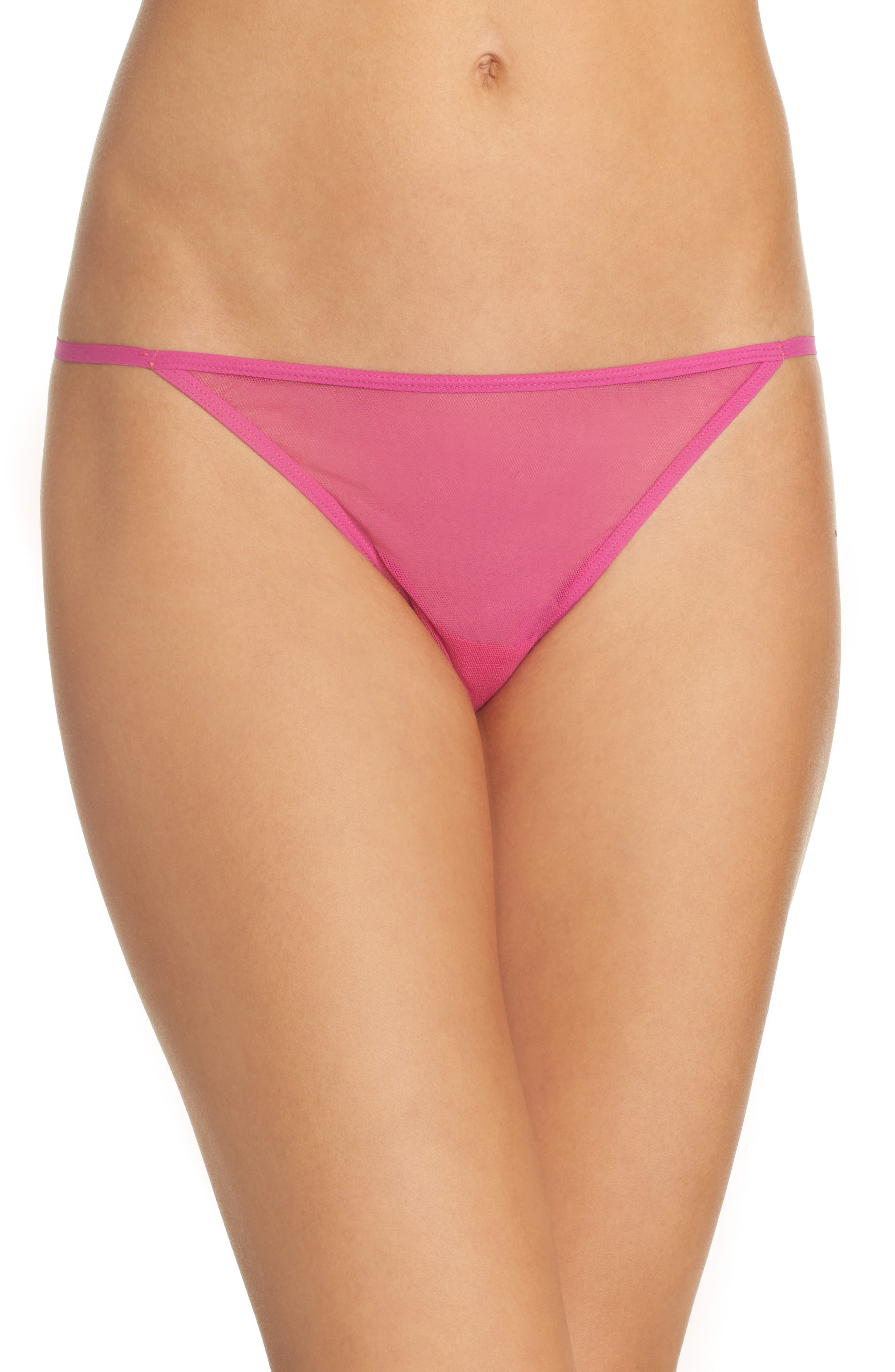 'Soire New Italian' Thong,                         Main,                         color, Bright Berry