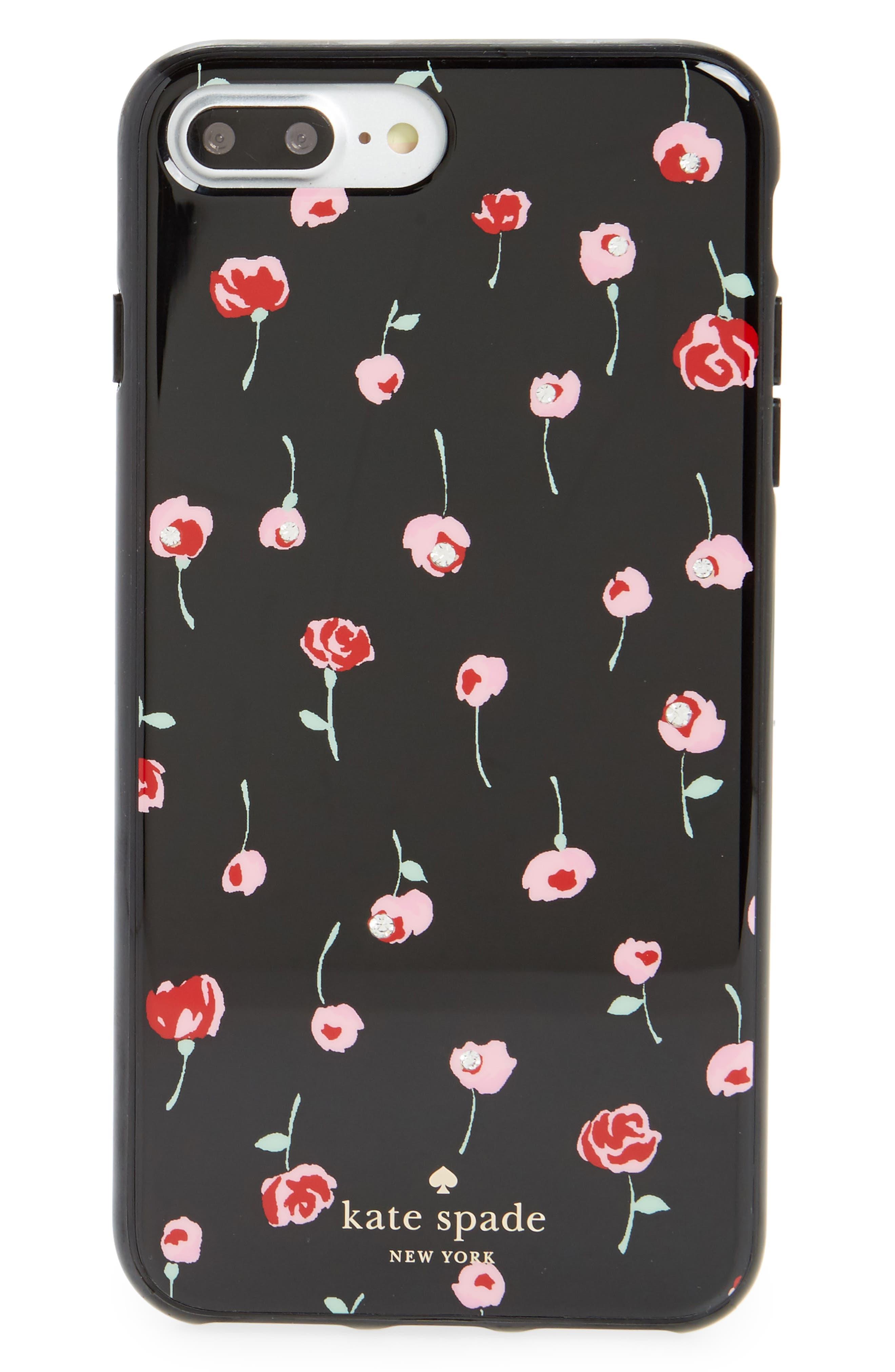 kate spade new york jeweld café rose iPhone 7/8 & 7/8 Plus case
