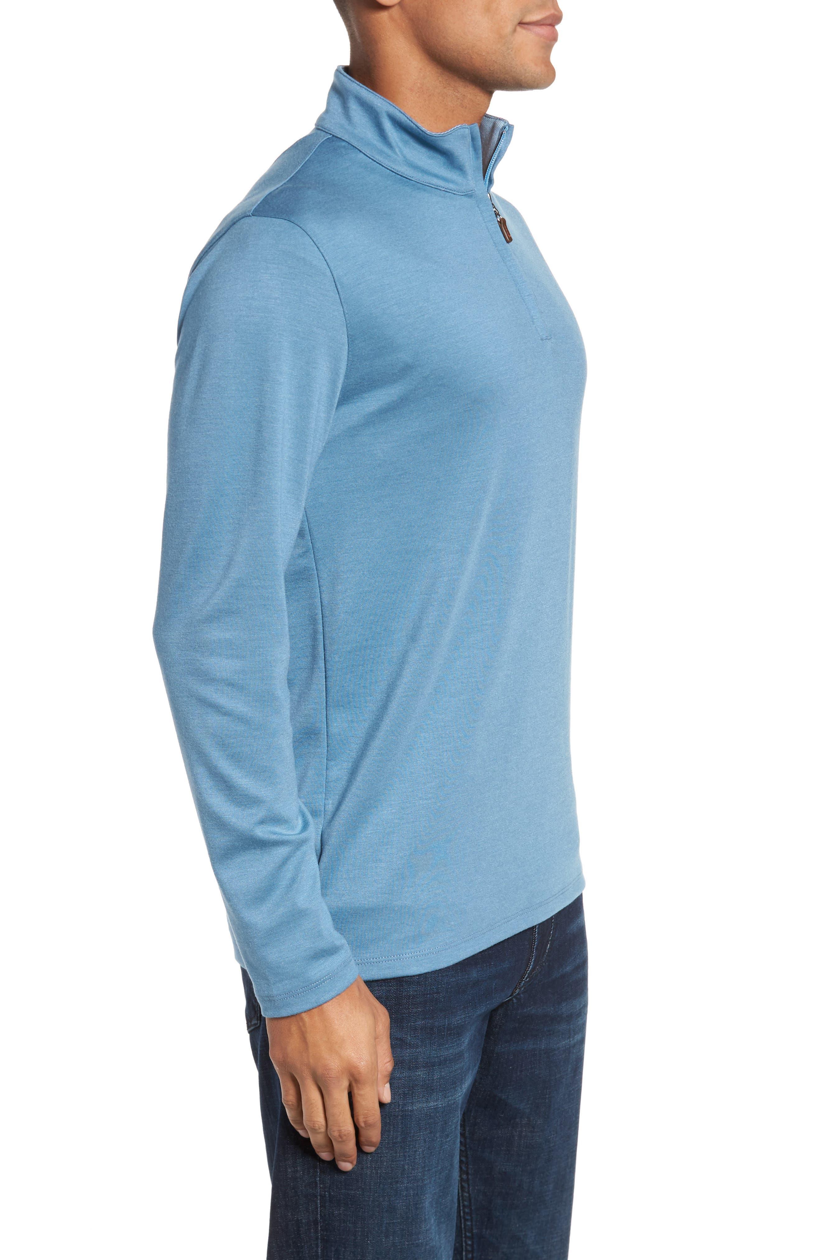 Quarter Zip Pullover,                             Alternate thumbnail 3, color,                             Blue