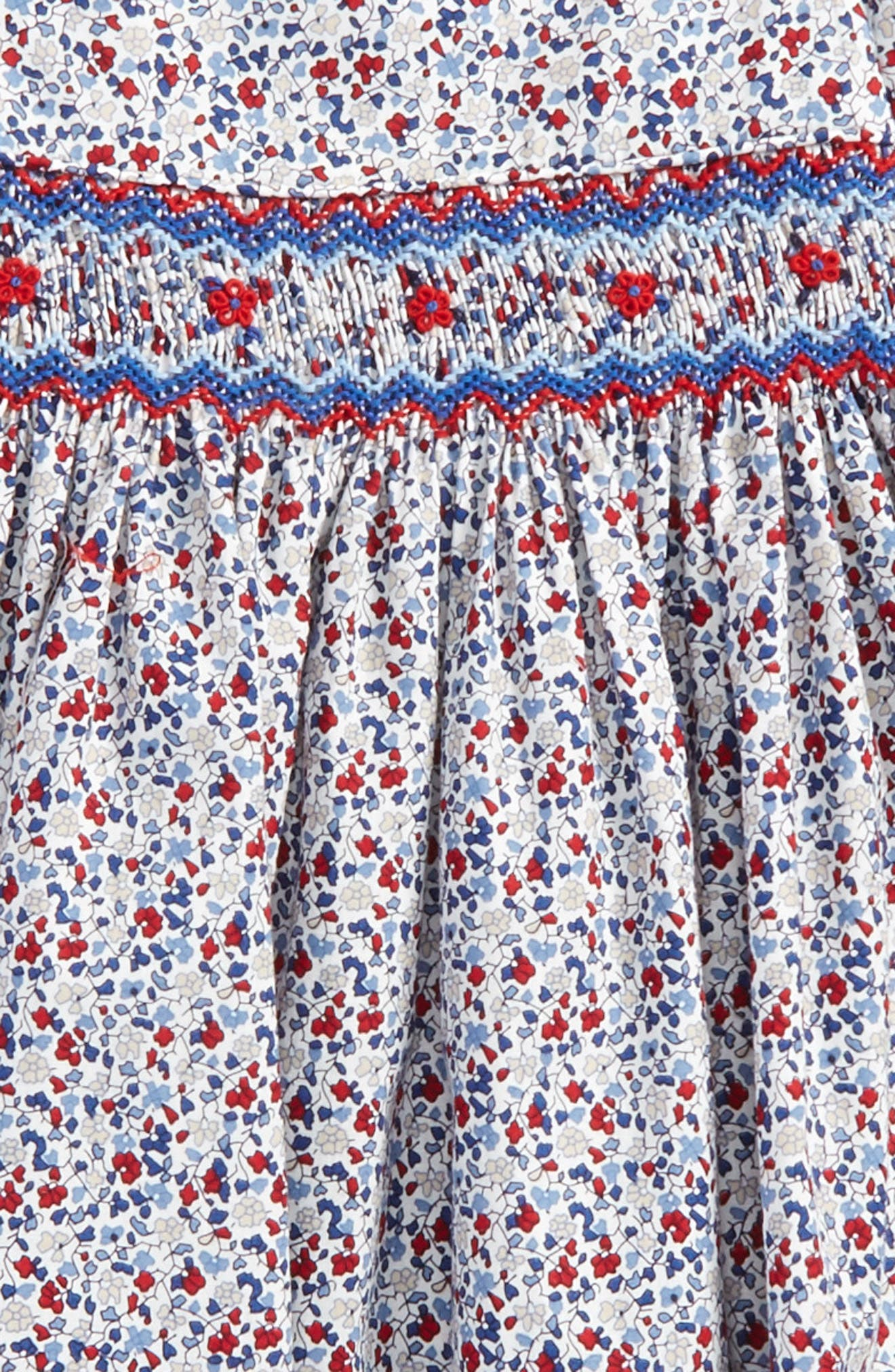 Alternate Image 2  - Luli & Me Floral Smocked Dress (Baby Girls)