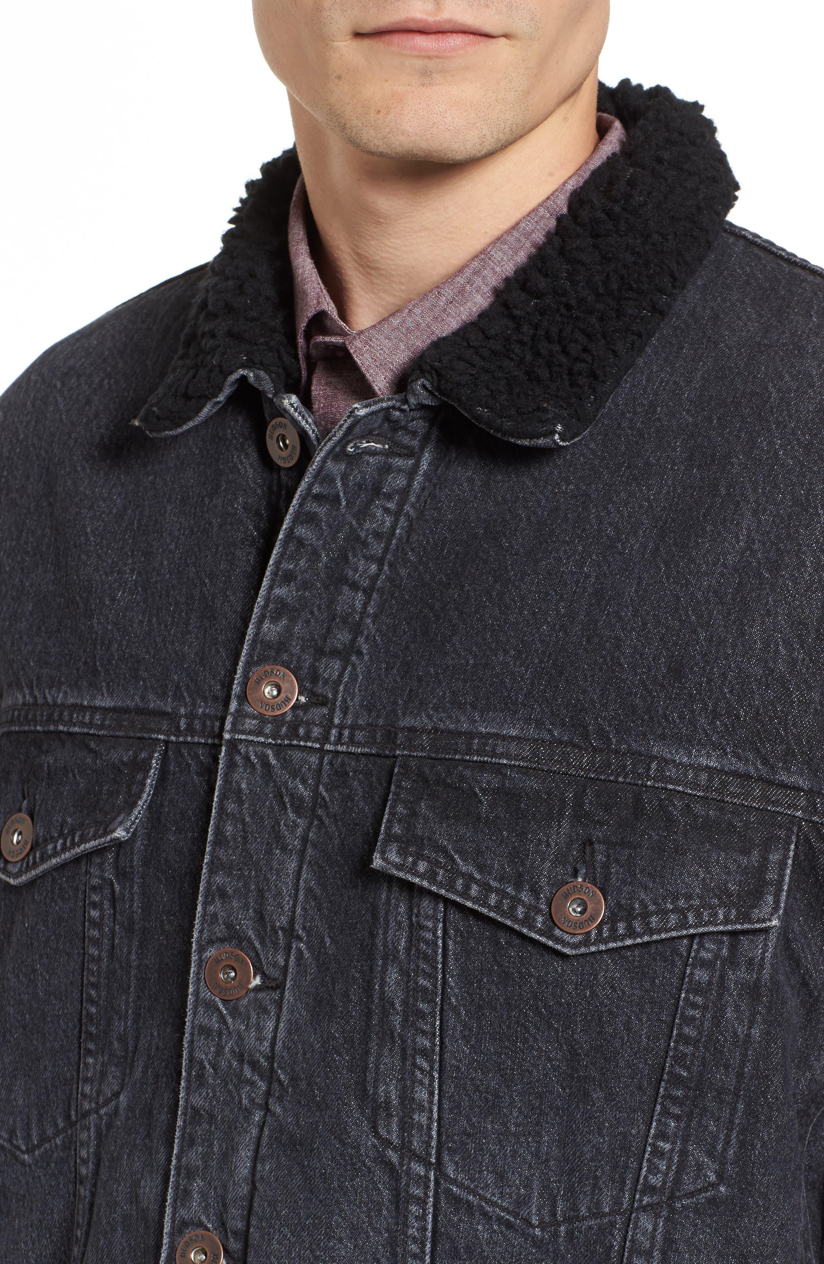 Alternate Image 4  - Hudson Denim Trucker Jacket