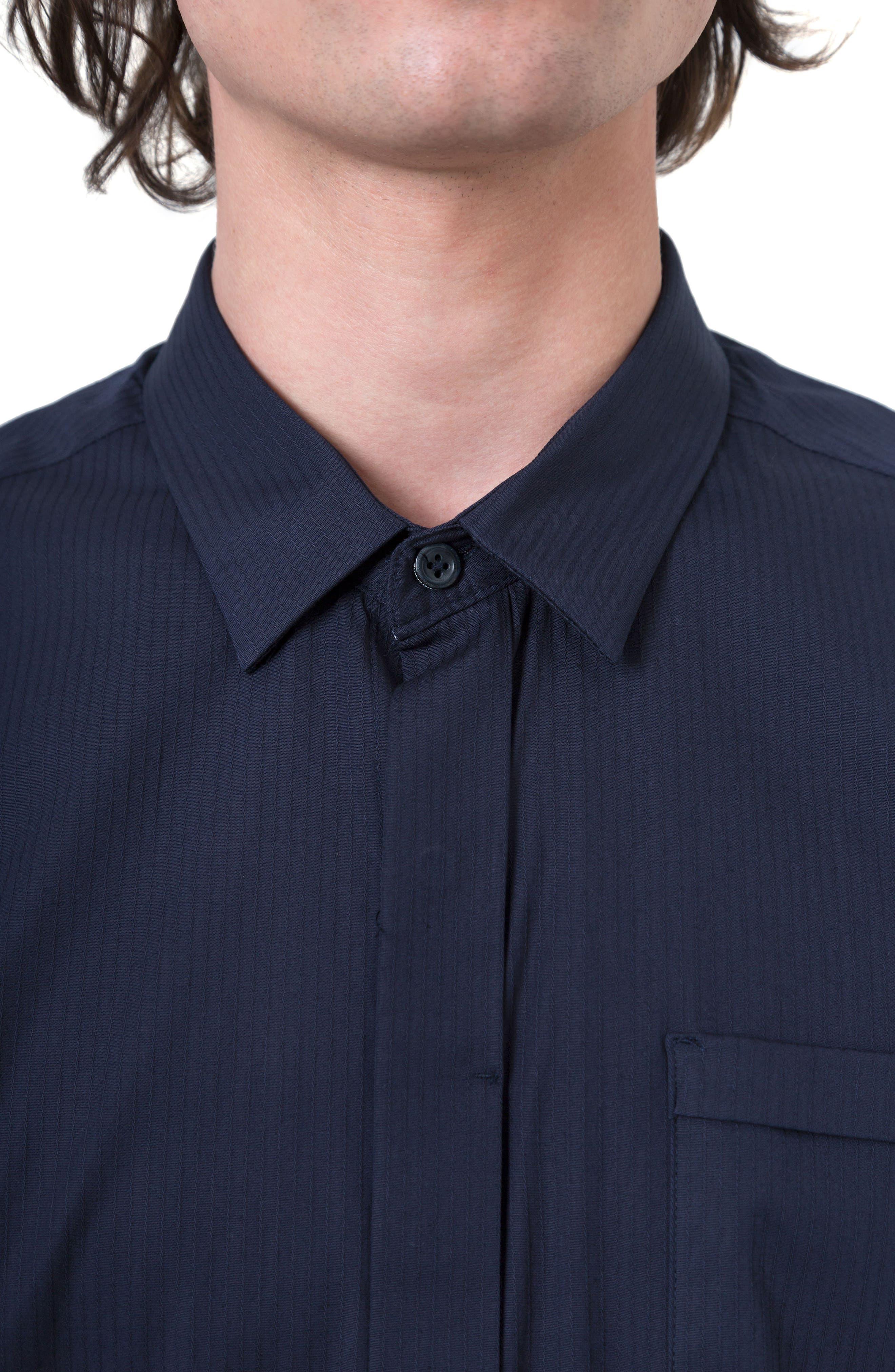 City Savior Woven Shirt,                             Alternate thumbnail 4, color,                             Navy
