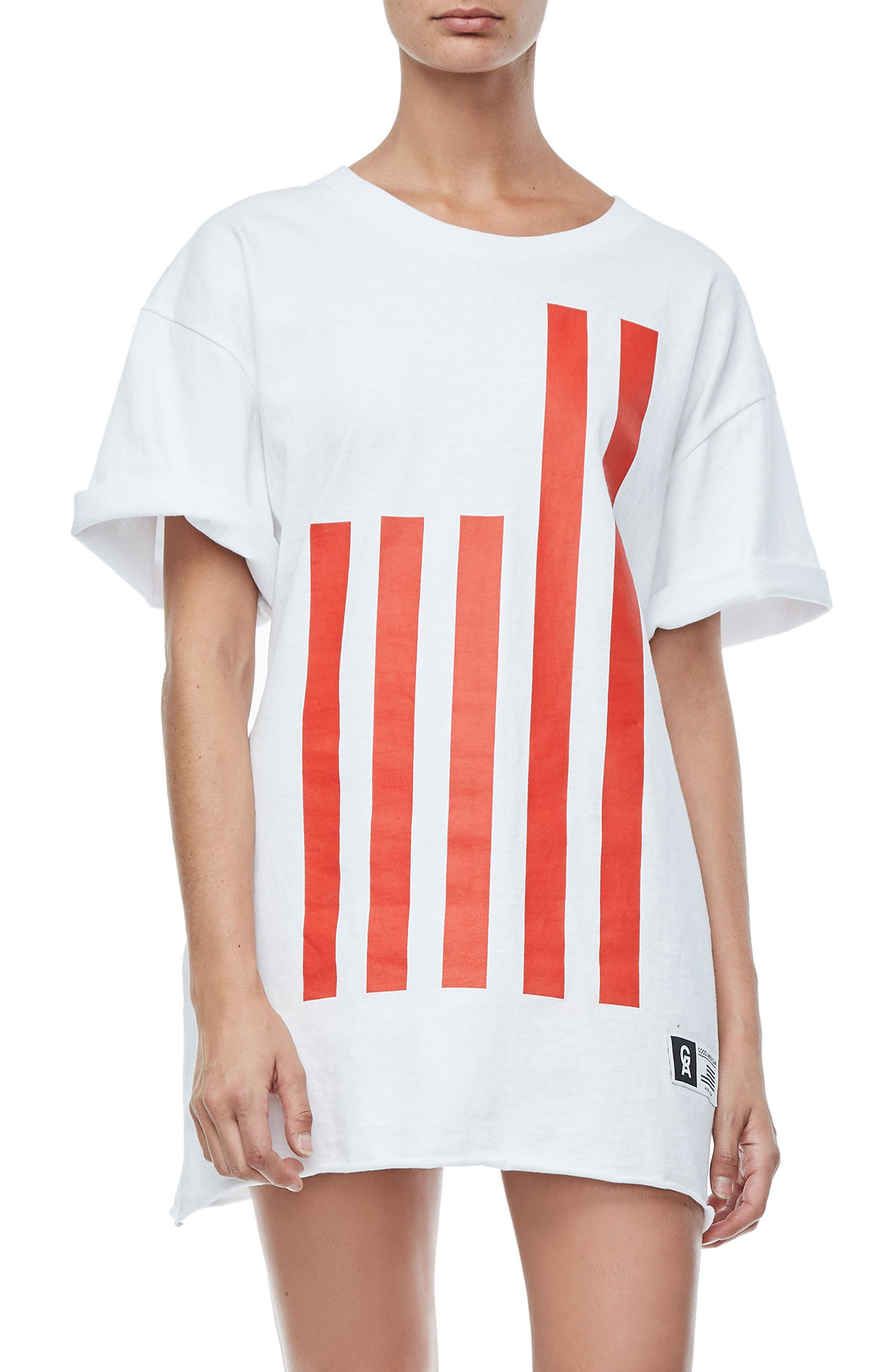 Main Image - Good American Goodies Graphic Oversize Tee