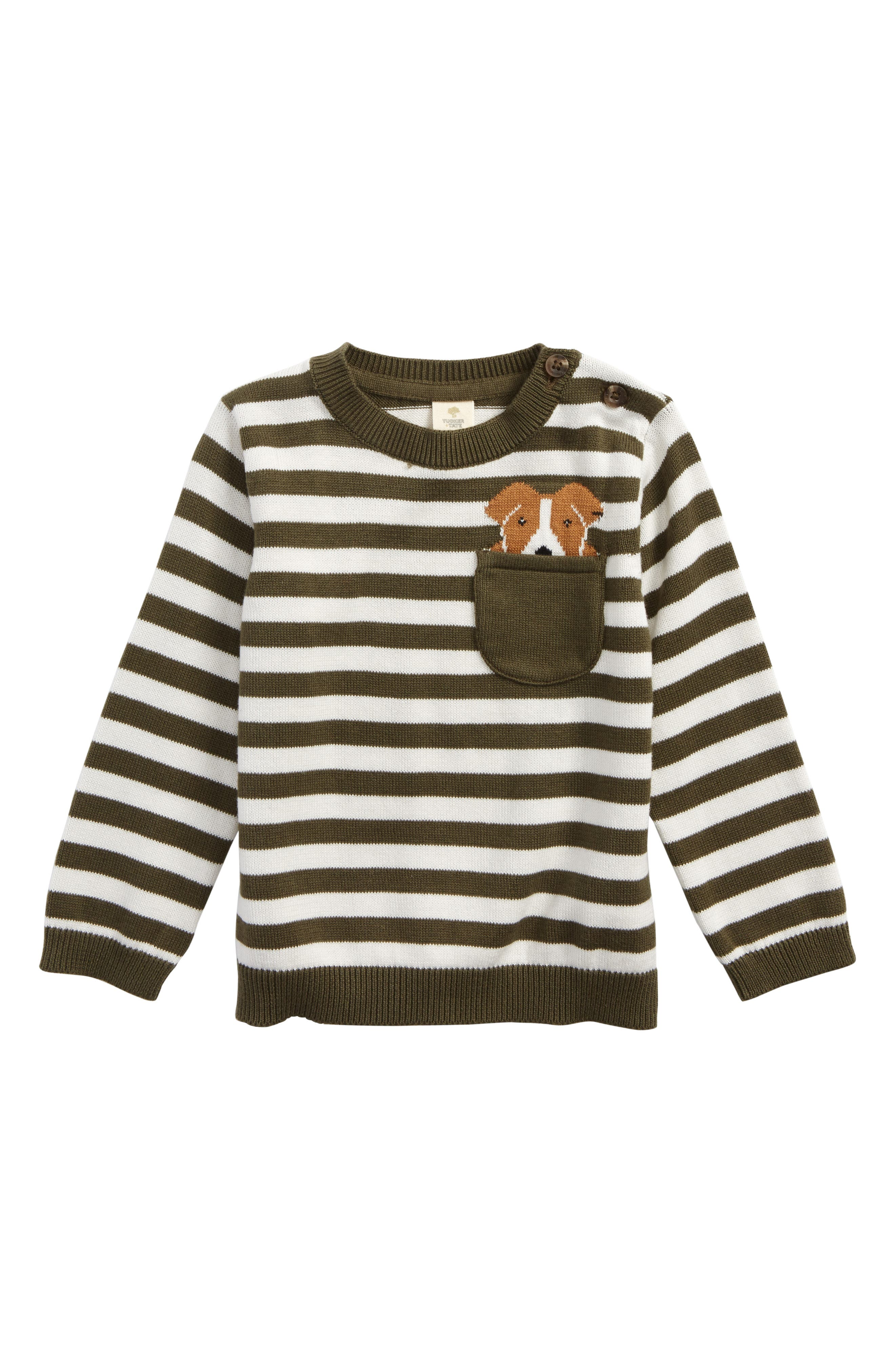 Pocket Dog Sweater,                         Main,                         color, Olive Sarma- Ivory Pocket Dog