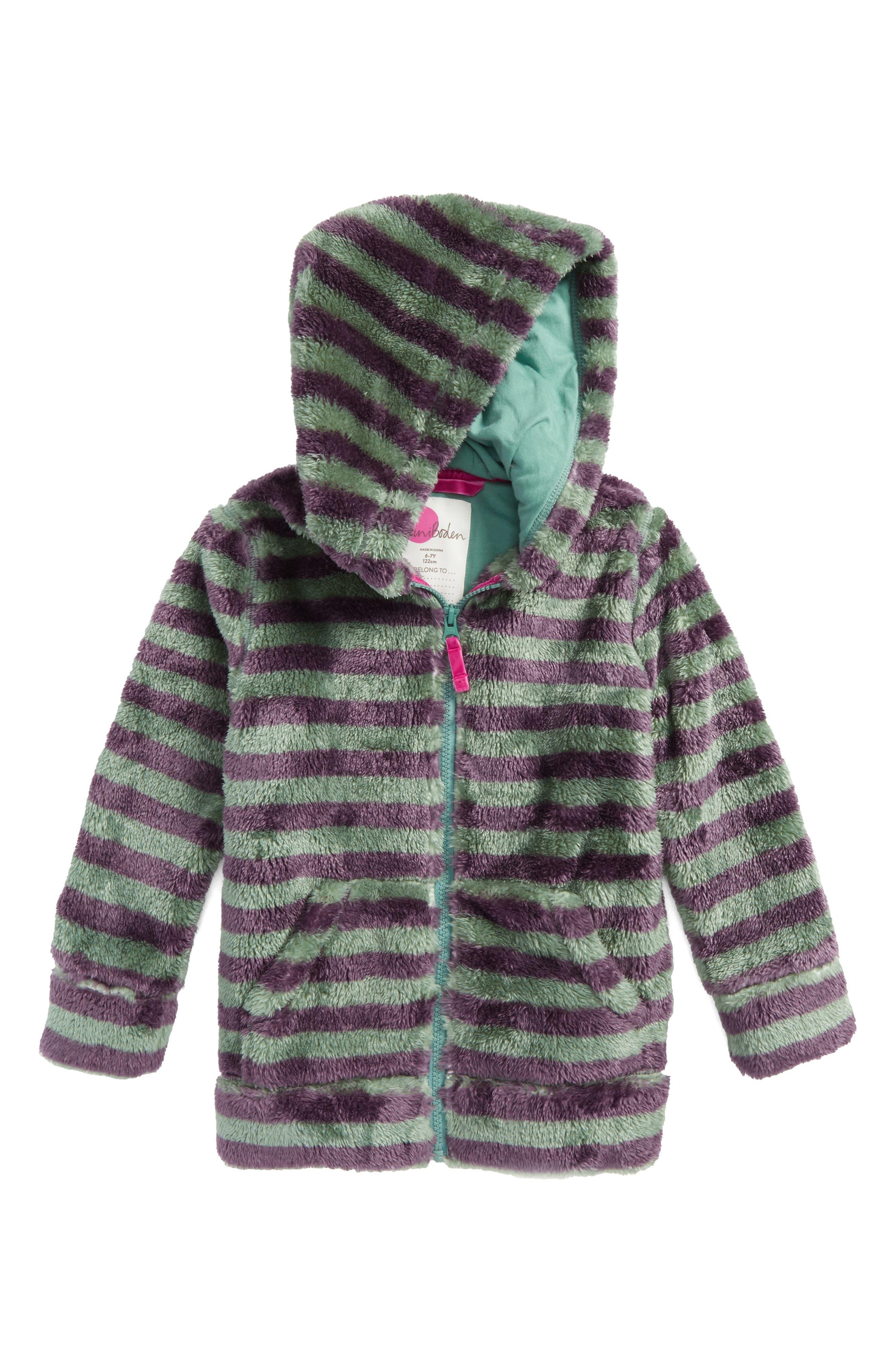 Teddy Zip-Up Hoodie,                         Main,                         color, Csarite Green/ Misty Purple
