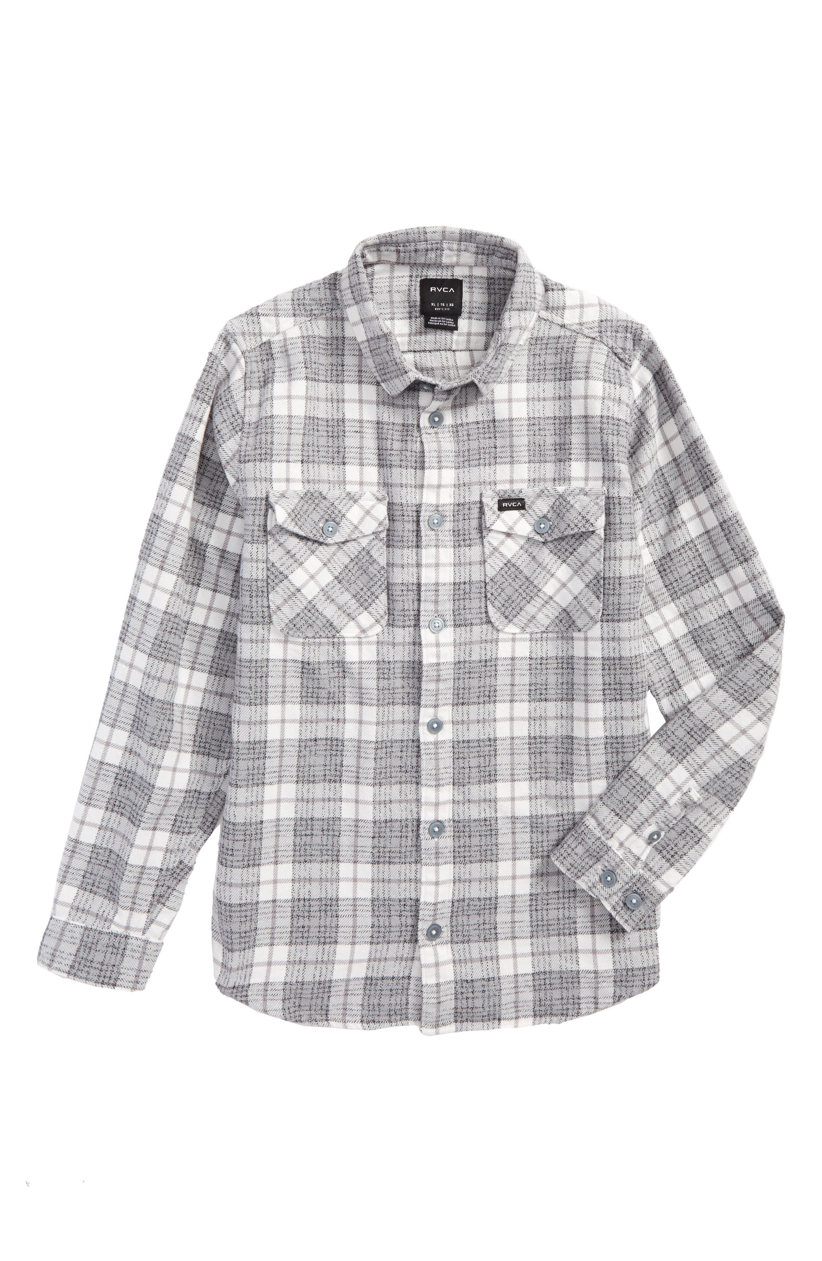 RVCA That'll Work Plaid Flannel Shirt (Big Boys)