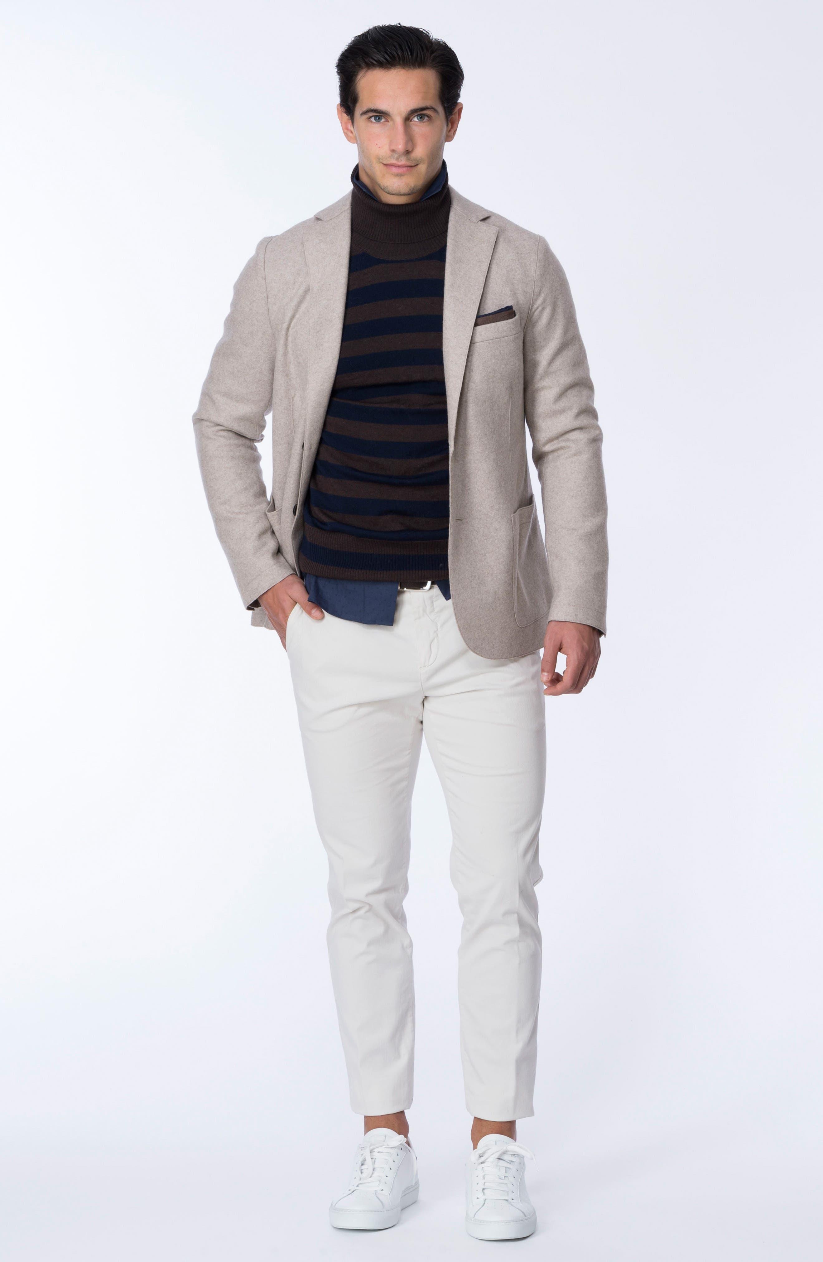 Alternate Image 7  - Eleventy Striped Turtleneck Sweater