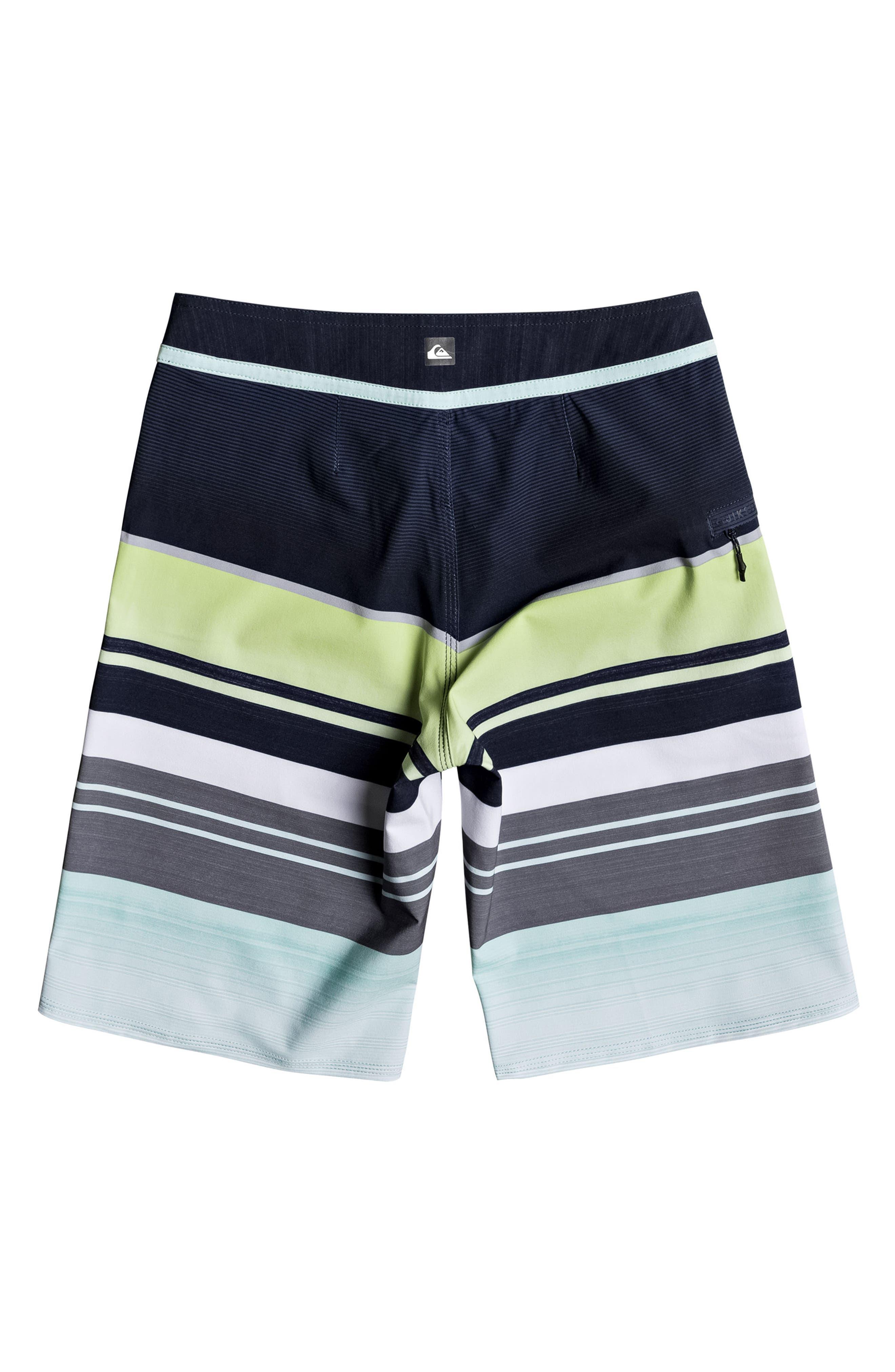 Alternate Image 2  - Quiksilver Everyday Stripe Vee Board Shorts (Big Boys)