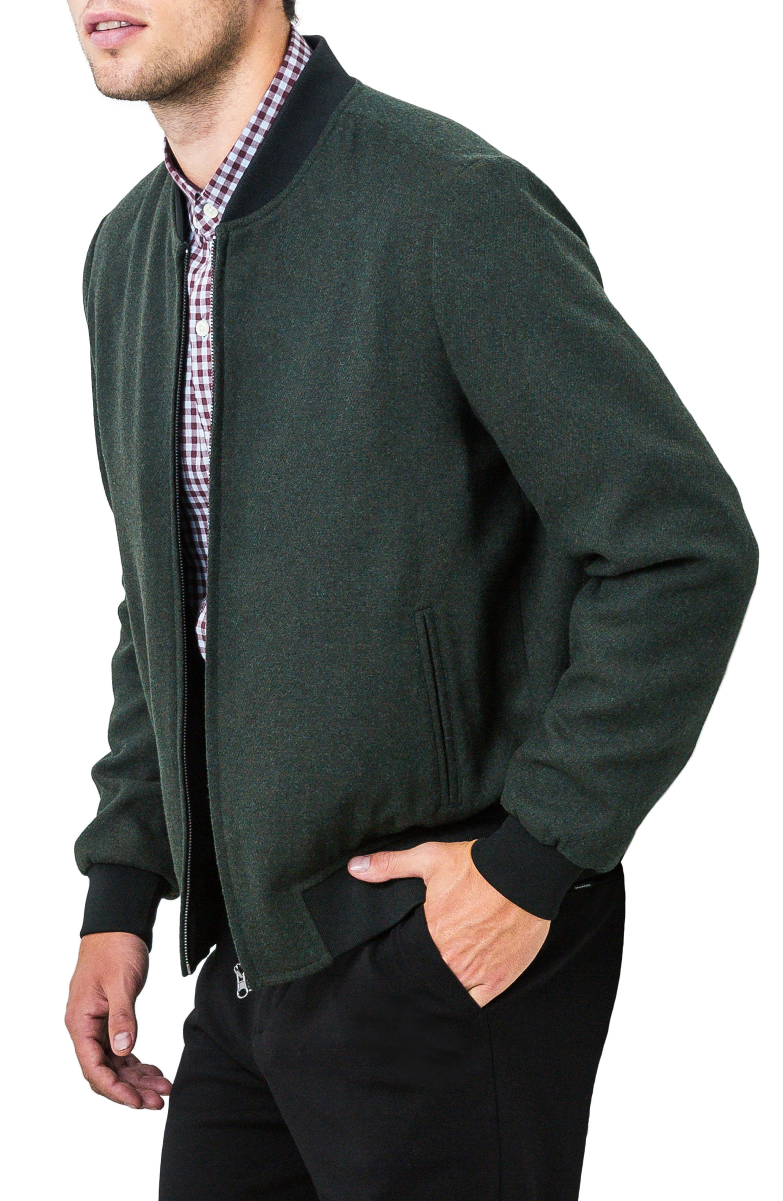 Aether Bomber Jacket,                             Alternate thumbnail 3, color,                             Pine