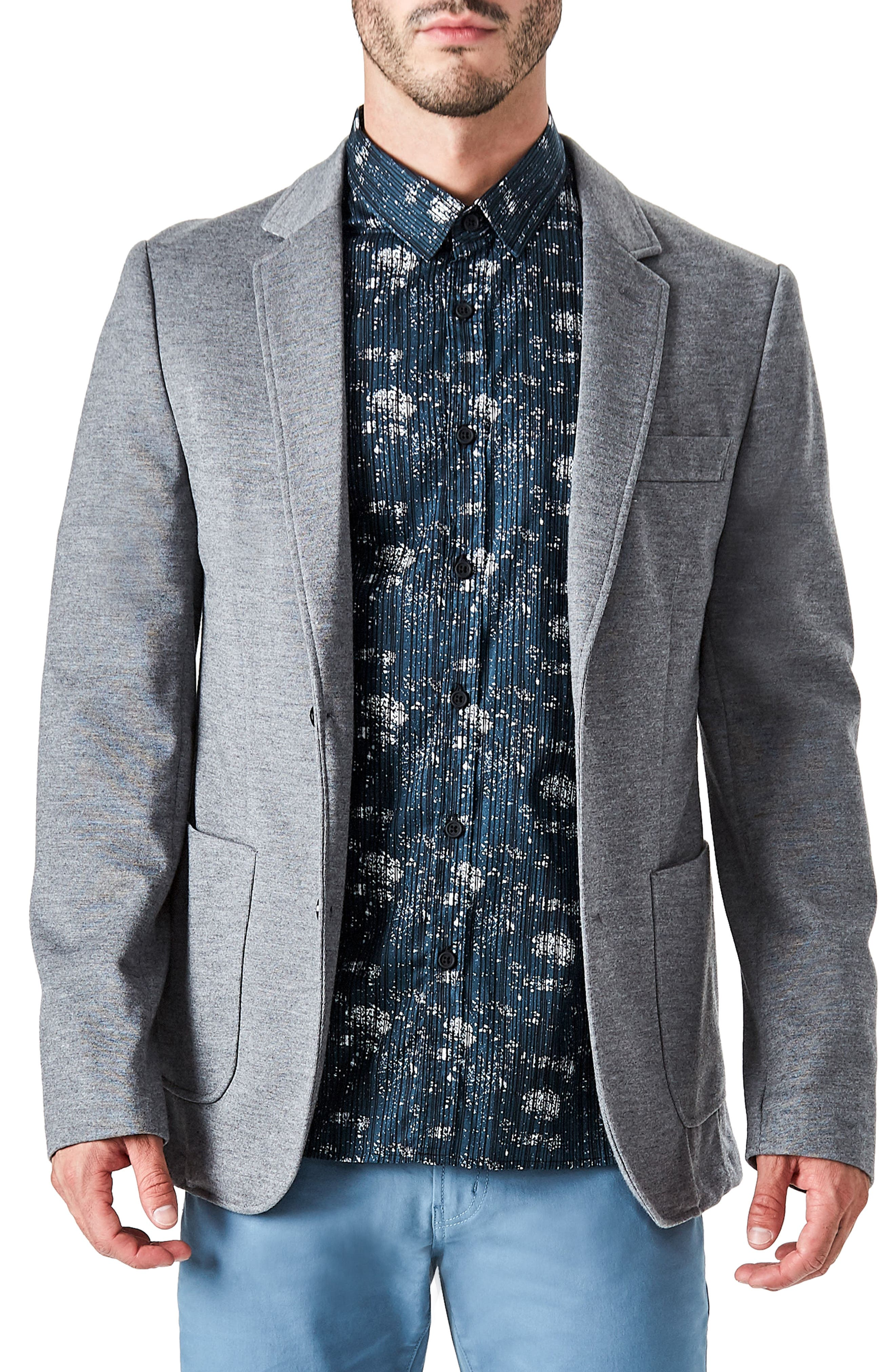 Urbino Casual Blazer,                             Main thumbnail 1, color,                             Grey