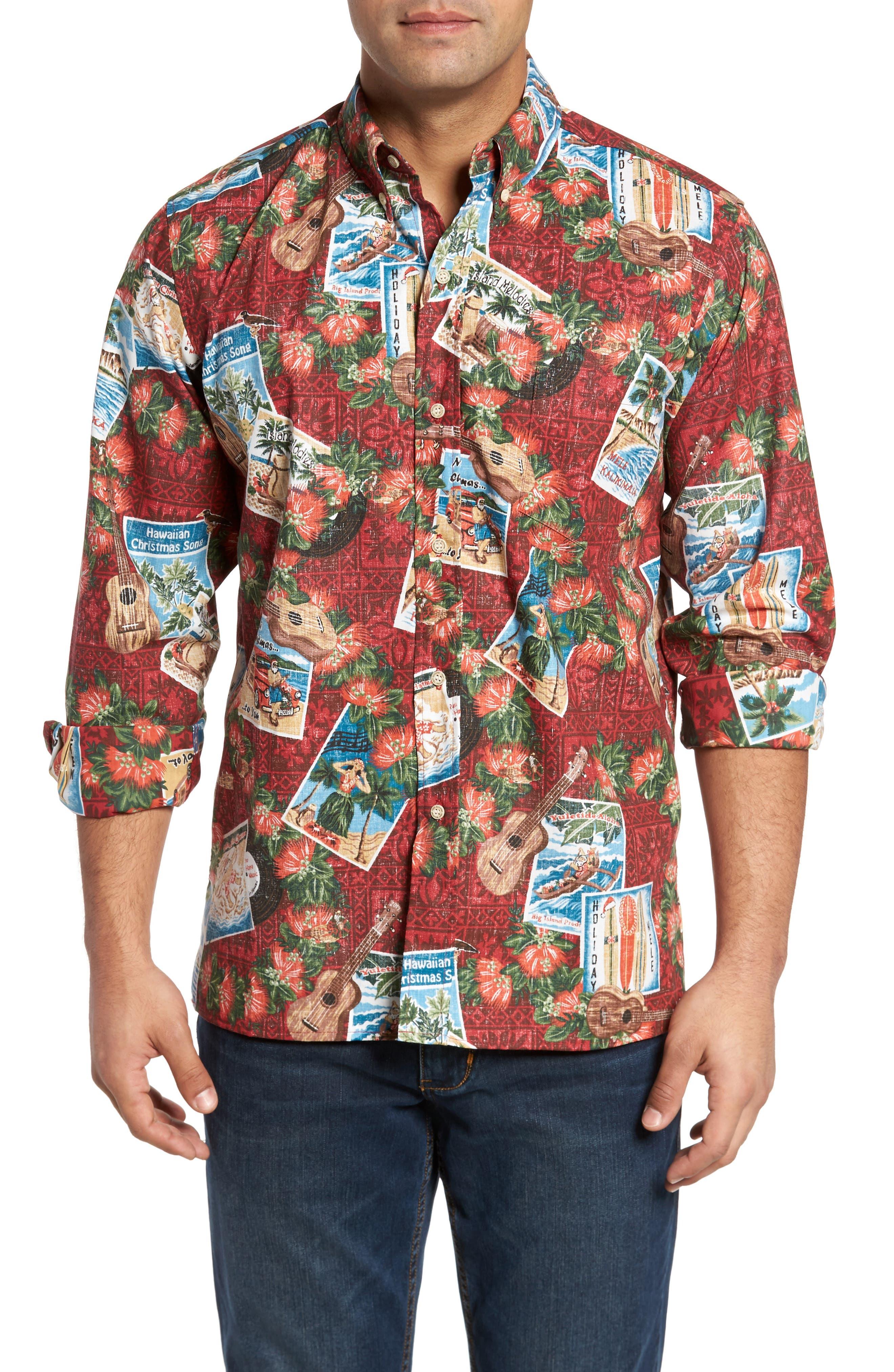 Alternate Image 1 Selected - Reyn Spooner Hawaiian Christmas 2017 Sport Shirt