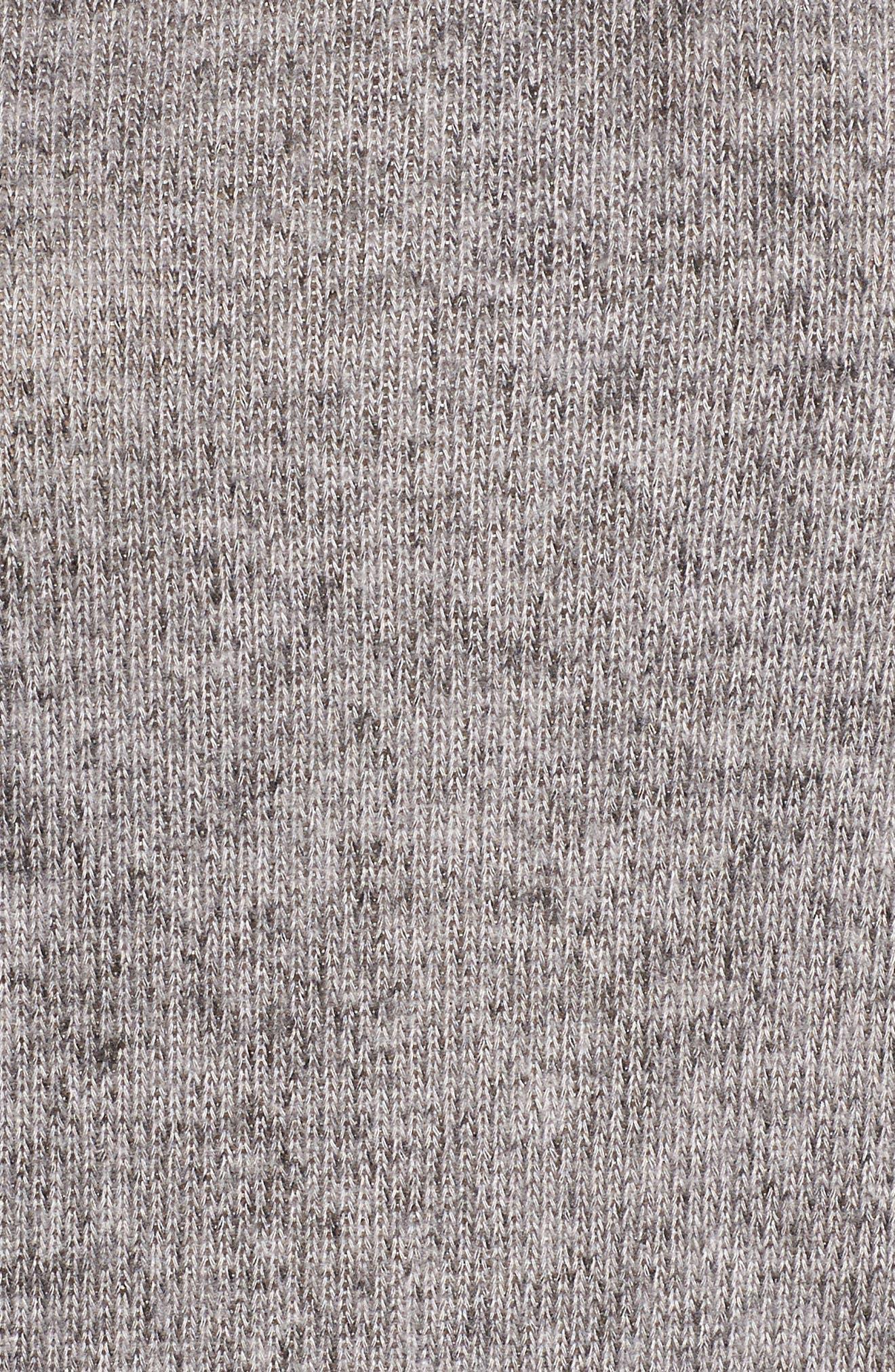 Hooded Knit Tunic,                             Alternate thumbnail 5, color,                             Light Grey