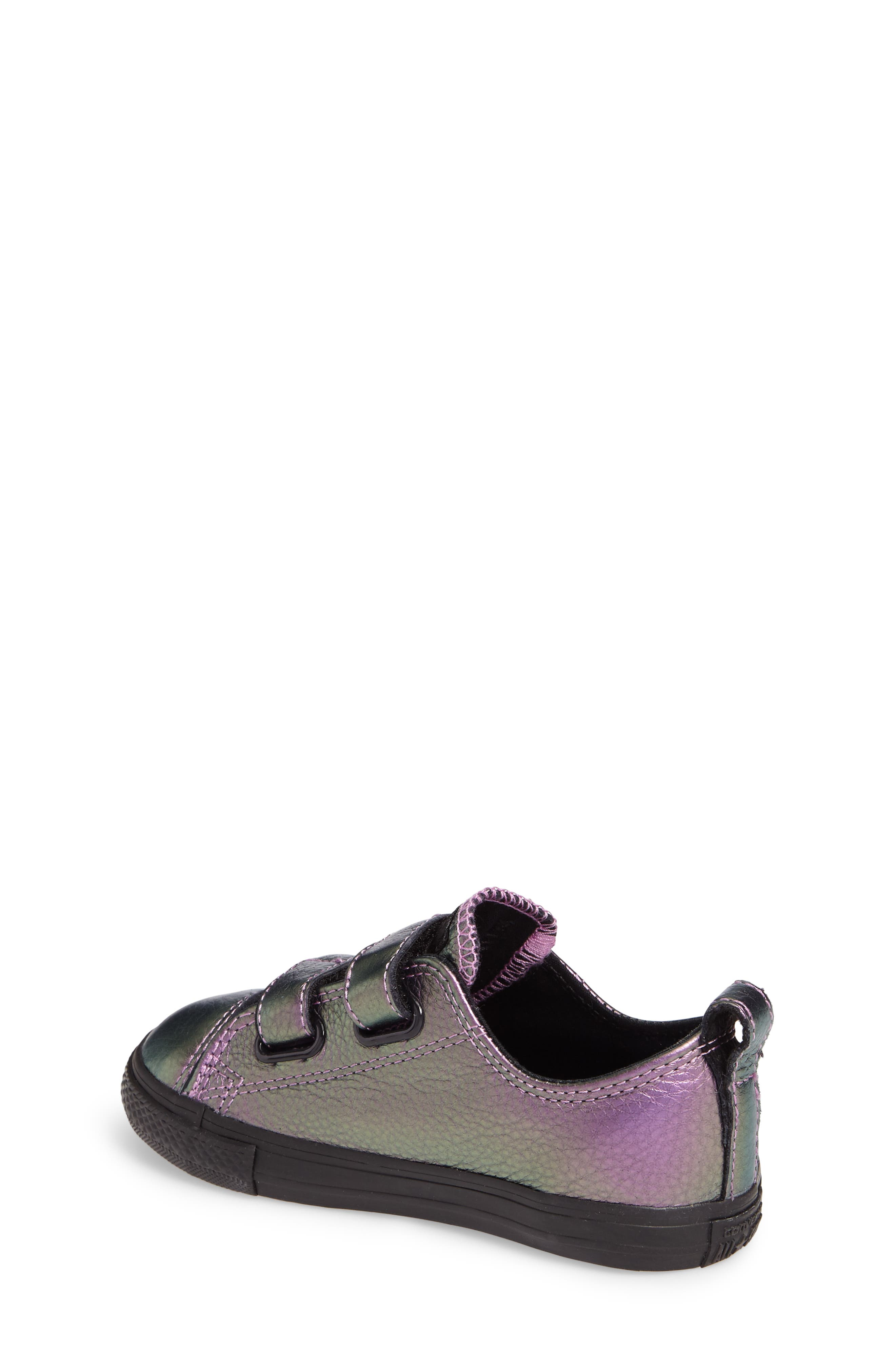 Alternate Image 2  - Converse Chuck Taylor® All Star® Iridescent Leather Low Top Sneaker (Baby, Walker & Toddler)