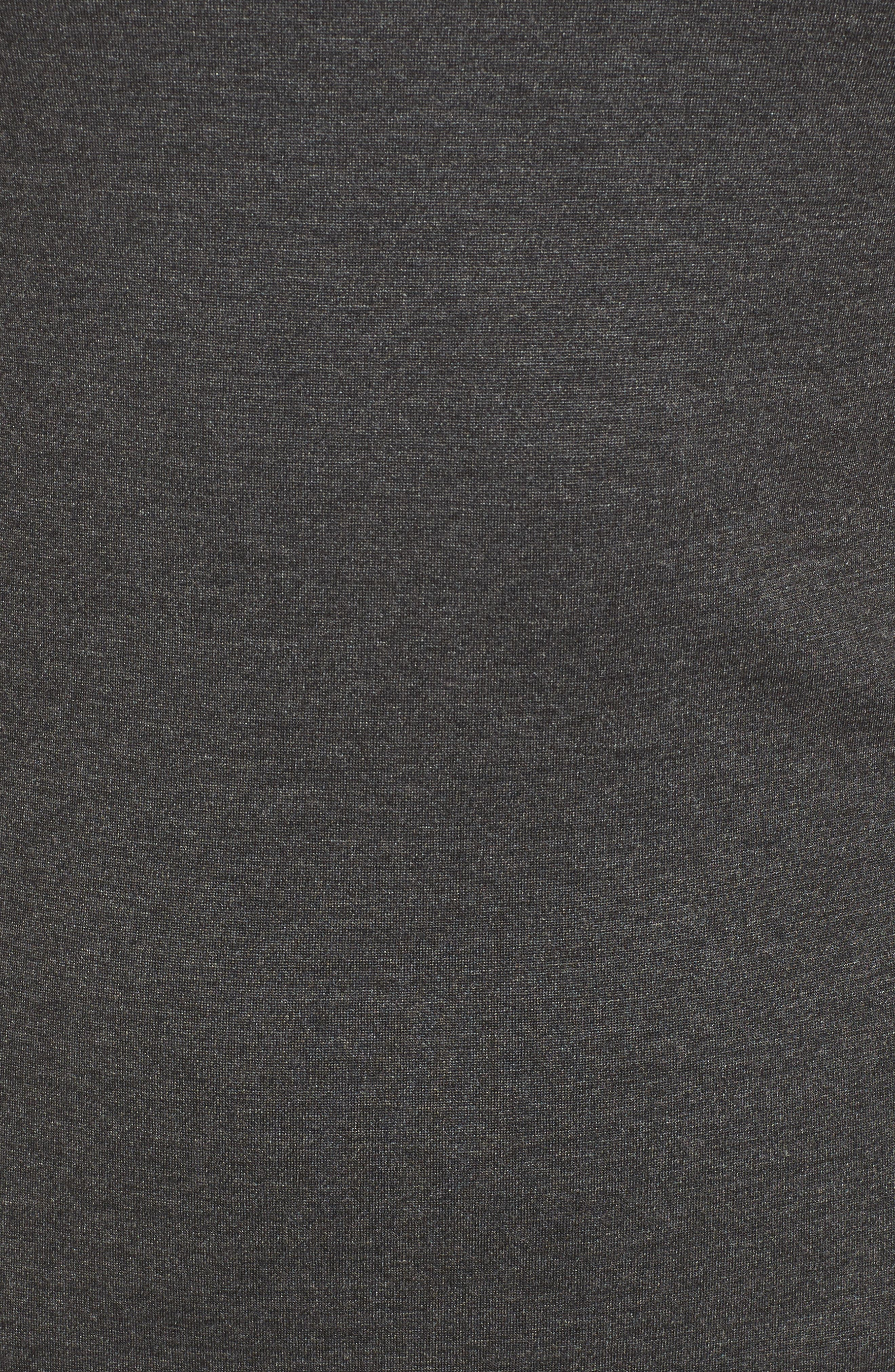Ponte Sheath Dress,                             Alternate thumbnail 5, color,                             Charcoal