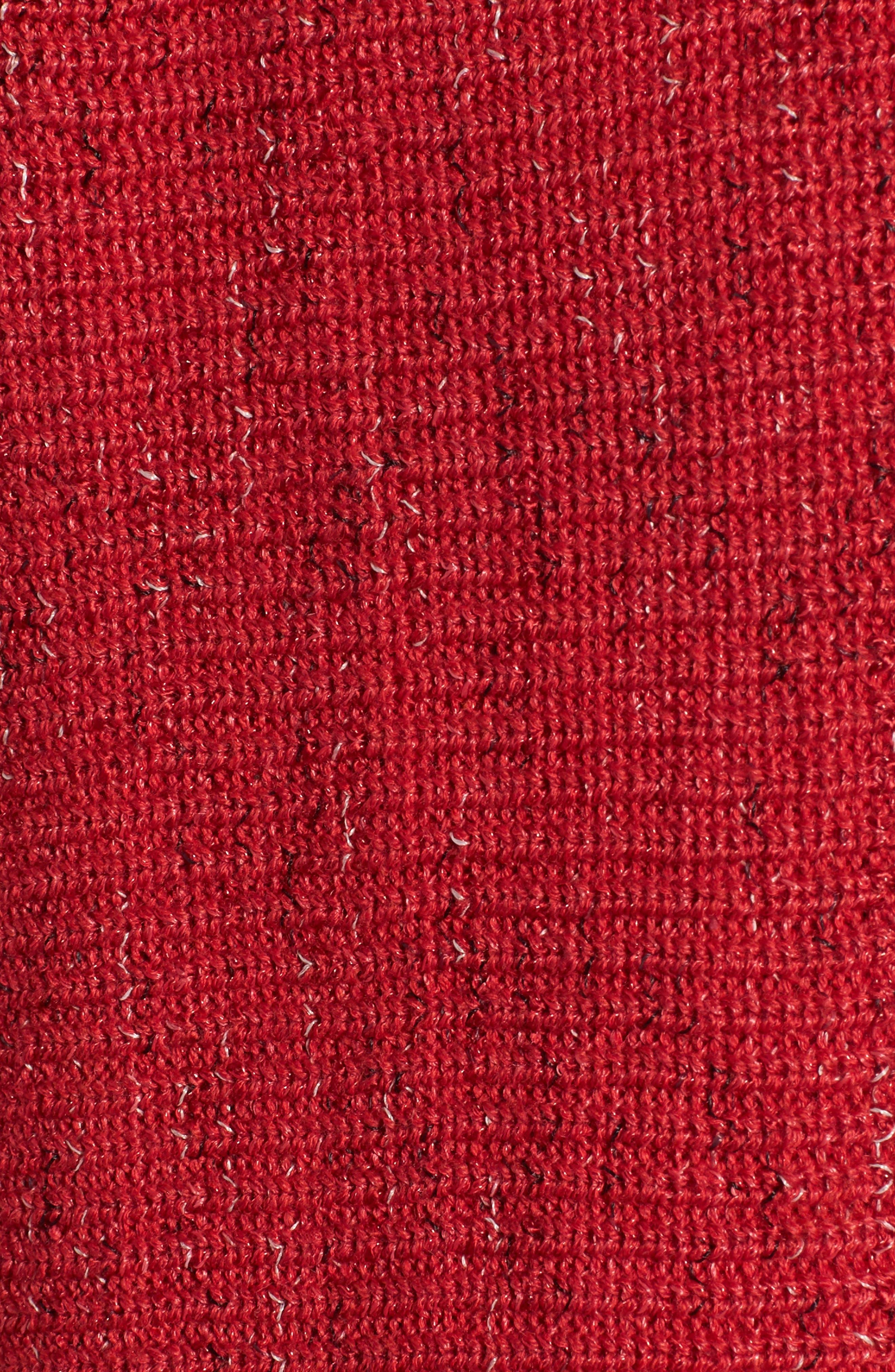 Pixel Pop Cardigan,                             Alternate thumbnail 5, color,                             True Red