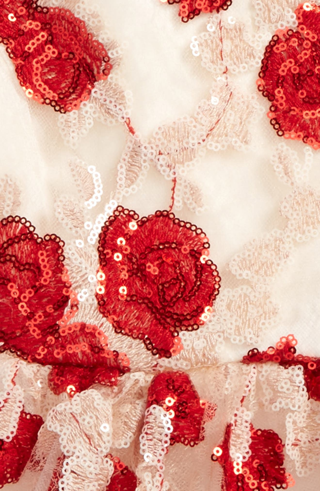 Floral Sequin Dress,                             Alternate thumbnail 2, color,                             Red