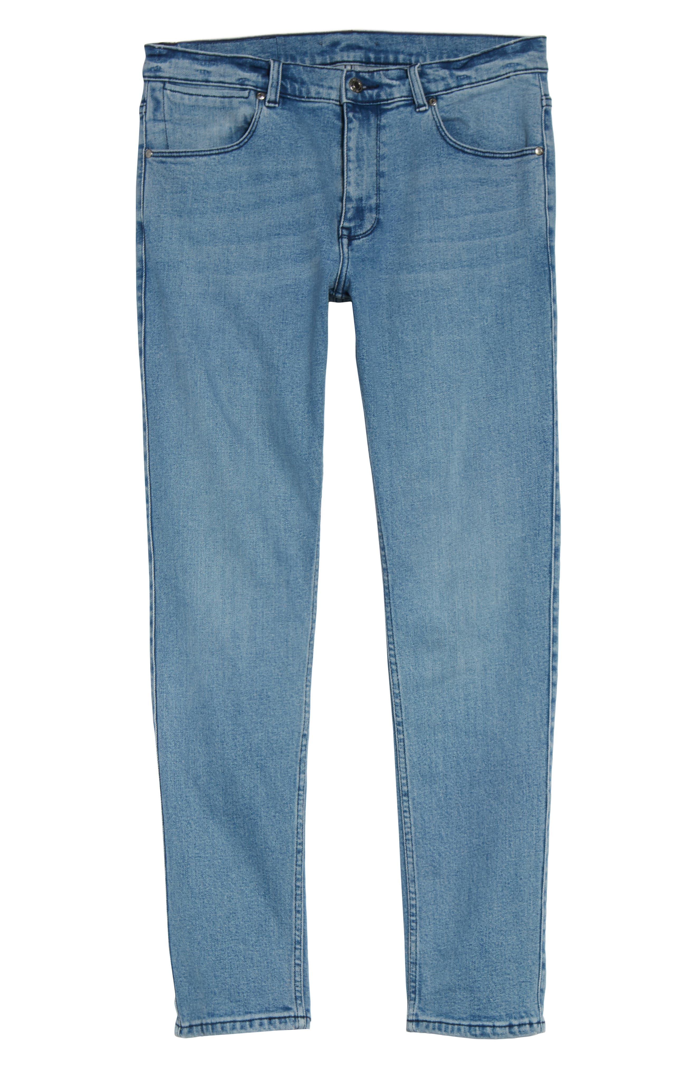 Alternate Image 6  - Dr. Denim Supply Co. Clark Slim Straight Leg Jeans (Worn Light Retro)