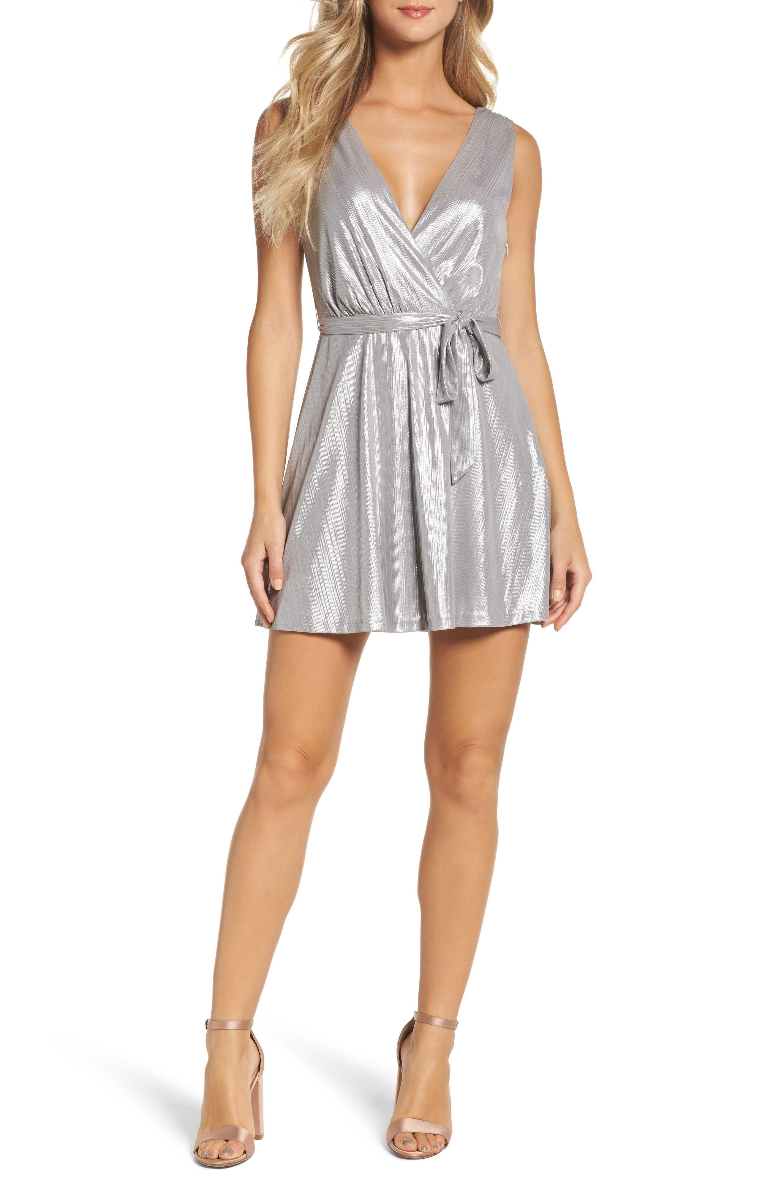 Alternate Image 1 Selected - BB Dakota Aggie Wrap Dress