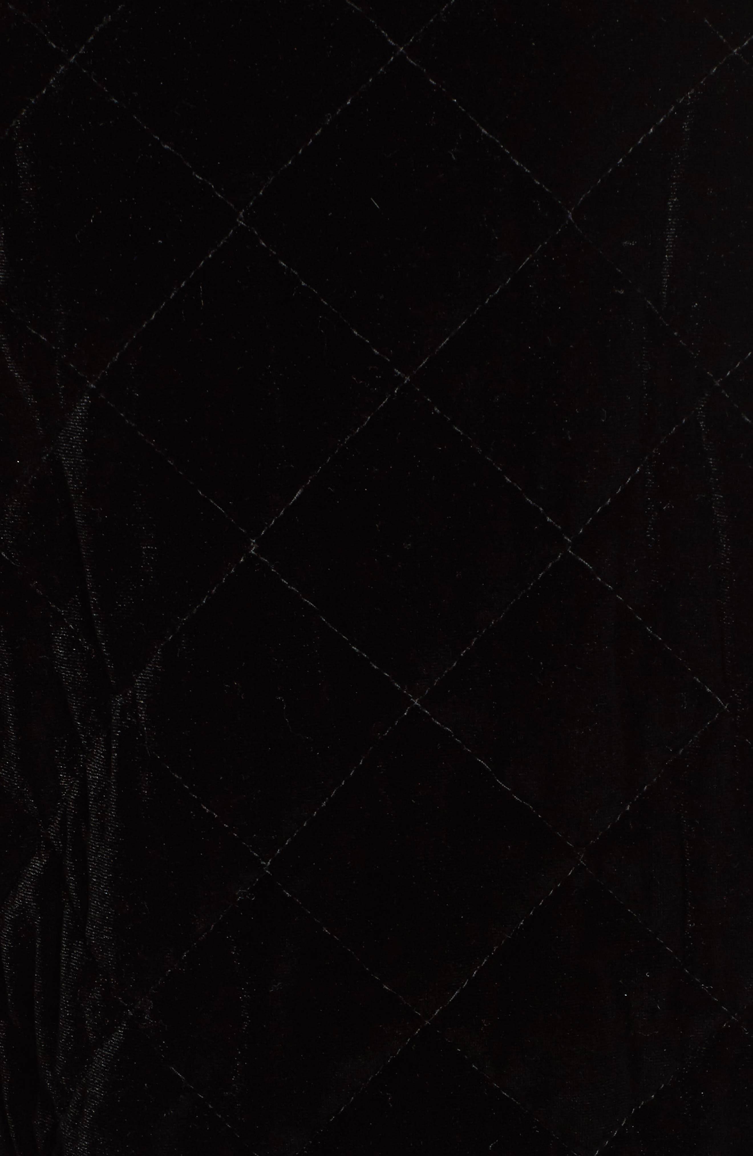 Quilted Sequin & Velvet Bomber,                             Alternate thumbnail 4, color,                             Black